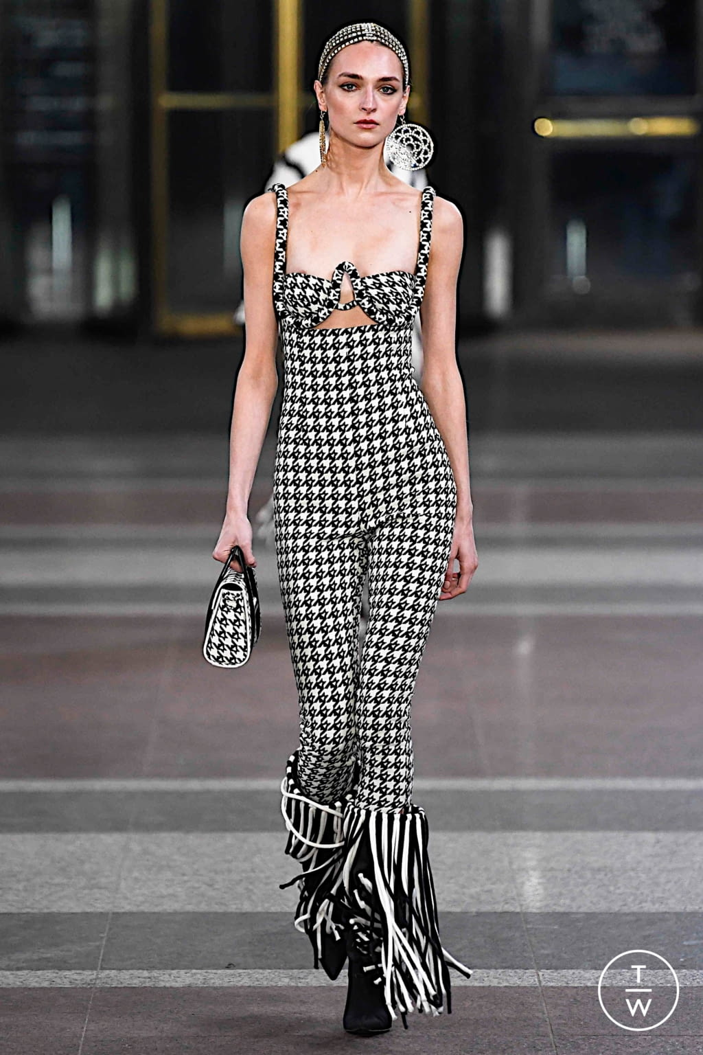 Fashion Week New York Fall/Winter 2019 look 6 from the Area collection 女装