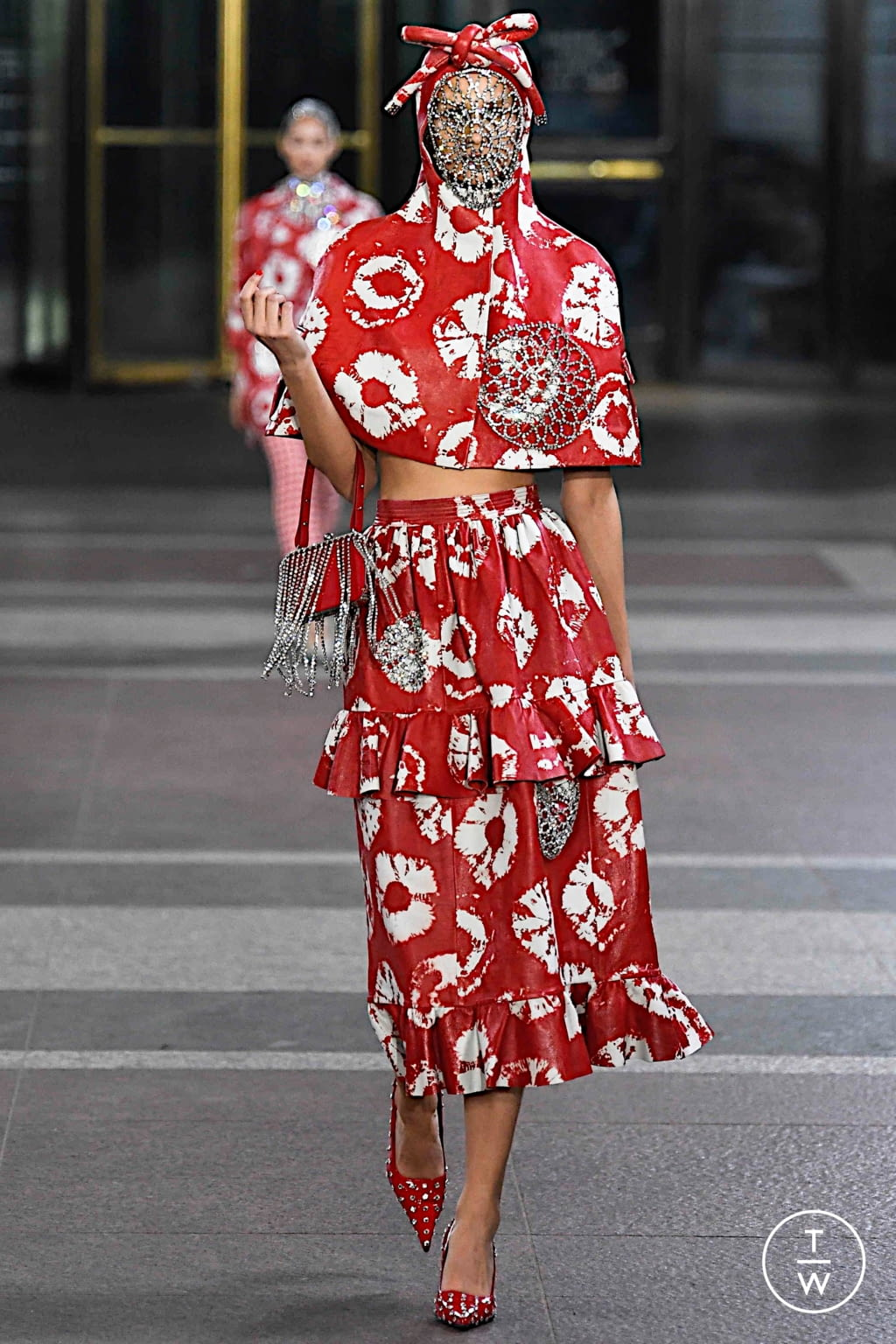 Fashion Week New York Fall/Winter 2019 look 12 from the Area collection 女装