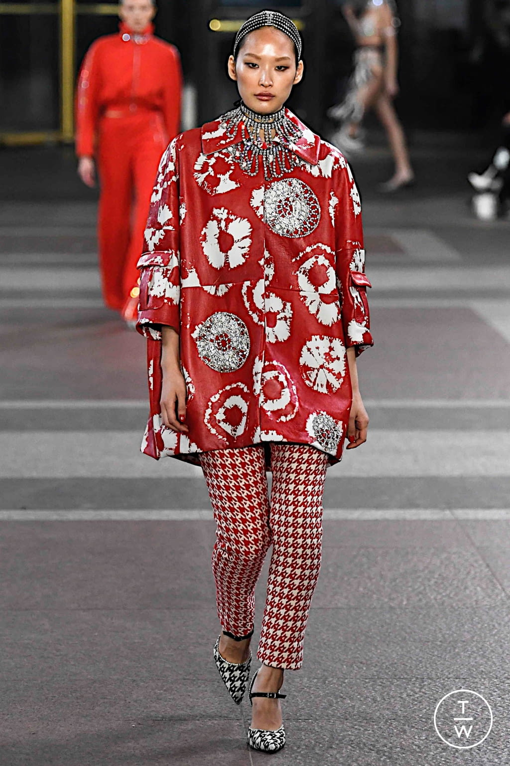 Fashion Week New York Fall/Winter 2019 look 13 from the Area collection 女装