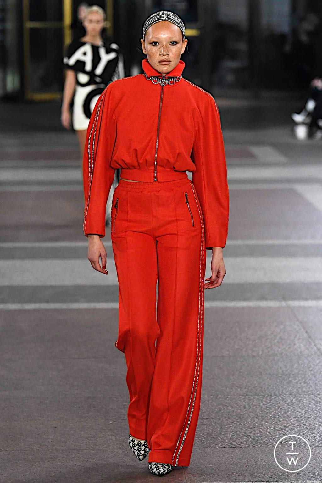 Fashion Week New York Fall/Winter 2019 look 14 from the Area collection 女装
