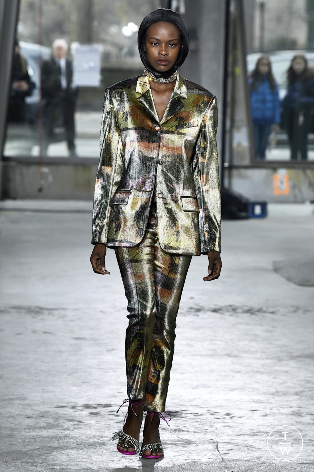 Fashion Week New York Fall/Winter 2020 look 11 from the Area collection 女装