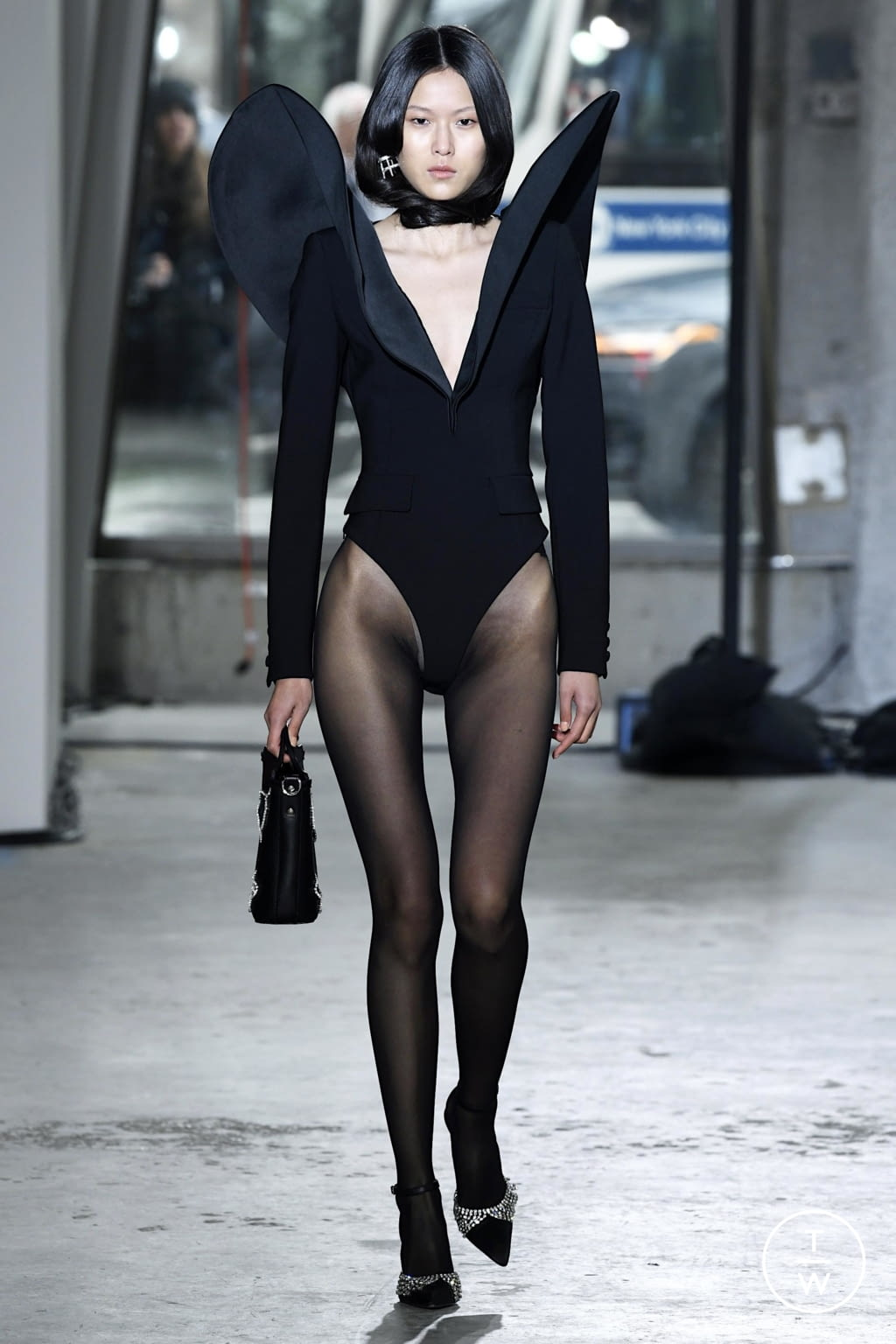 Fashion Week New York Fall/Winter 2020 look 16 from the Area collection 女装