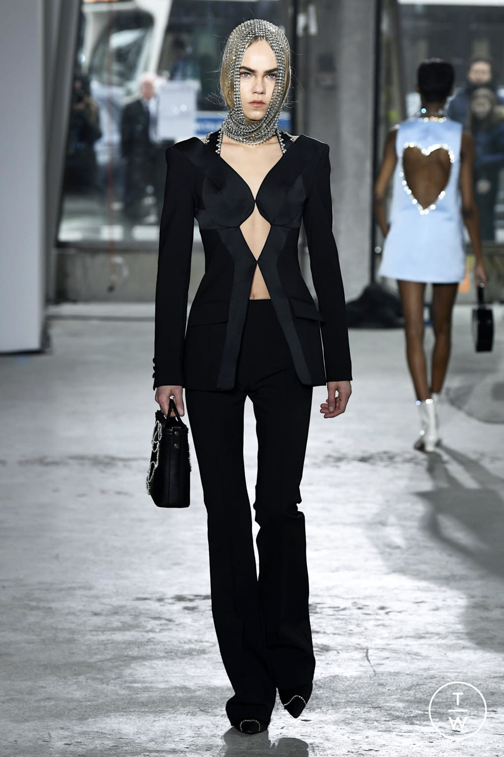 Fashion Week New York Fall/Winter 2020 look 17 from the Area collection 女装