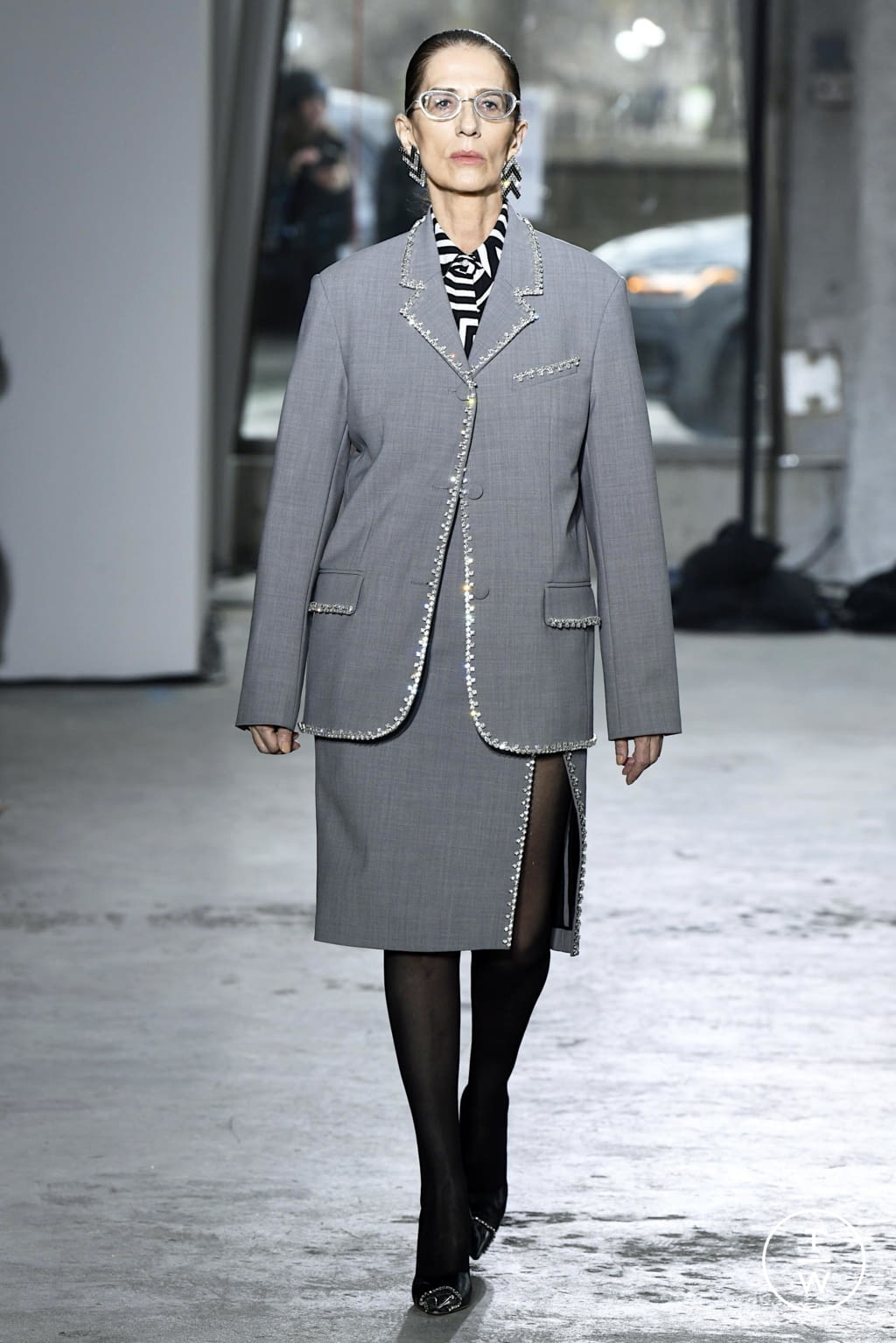 Fashion Week New York Fall/Winter 2020 look 20 from the Area collection 女装