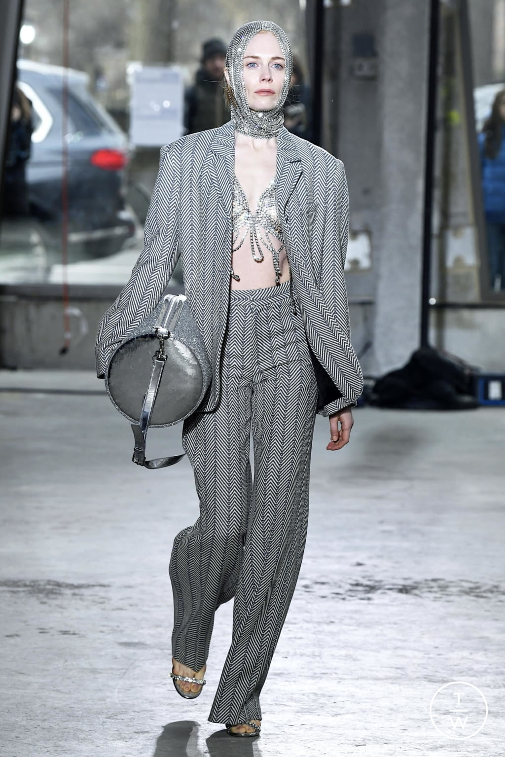Fashion Week New York Fall/Winter 2020 look 23 from the Area collection 女装