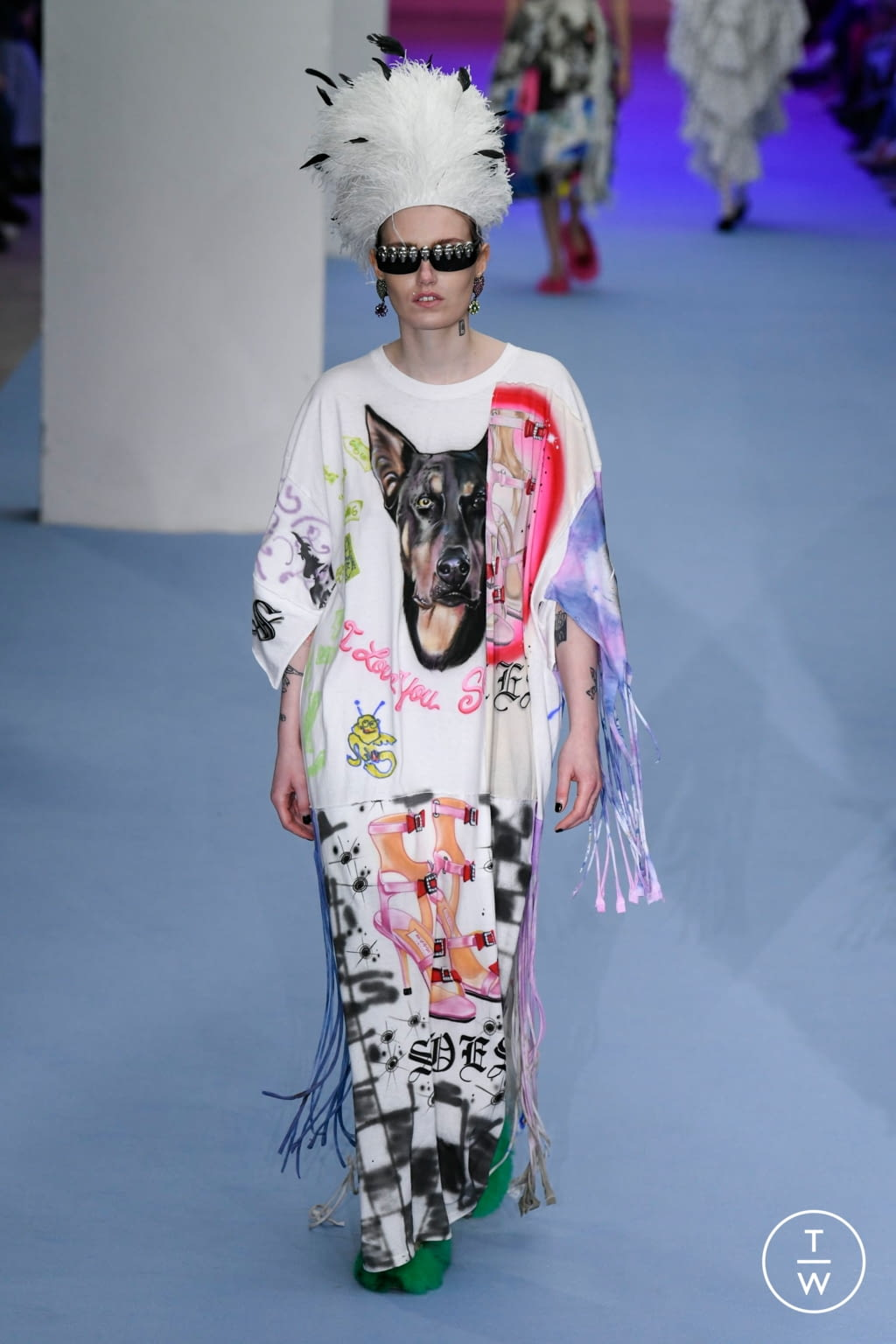 Fashion Week London Fall/Winter 2020 look 38 from the Ashley Williams collection womenswear