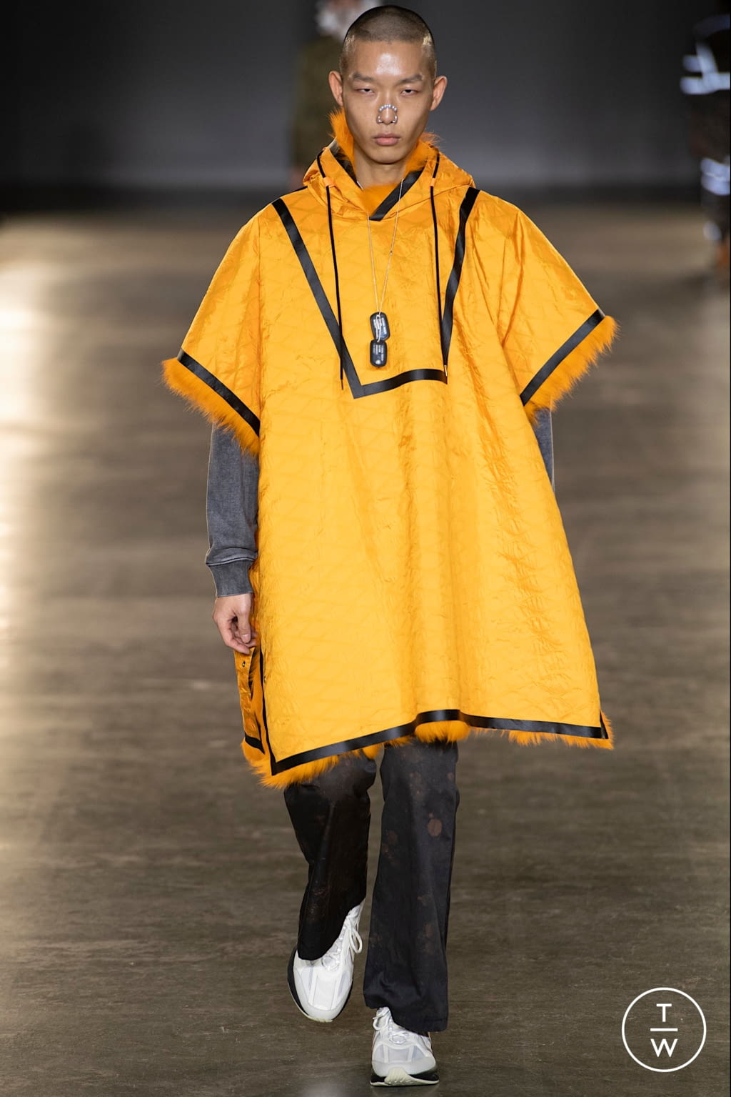 Fashion Week London Fall/Winter 2020 look 4 from the Astrid Andersen collection menswear