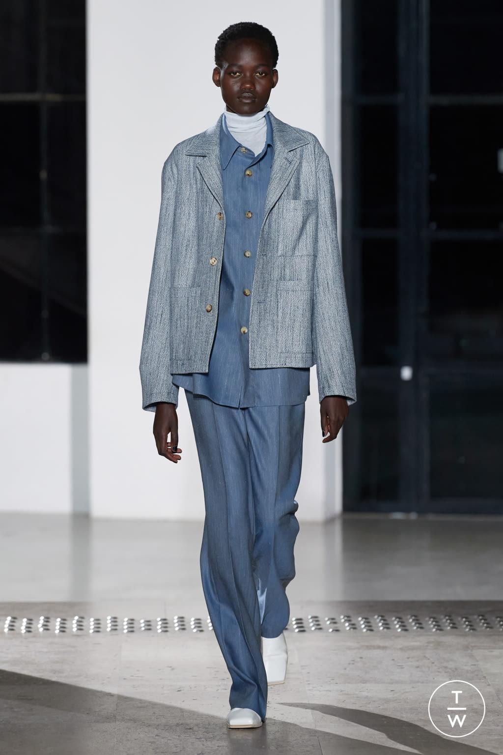 Fashion Week Paris Fall/Winter 2020 look 5 de la collection AURALEE menswear