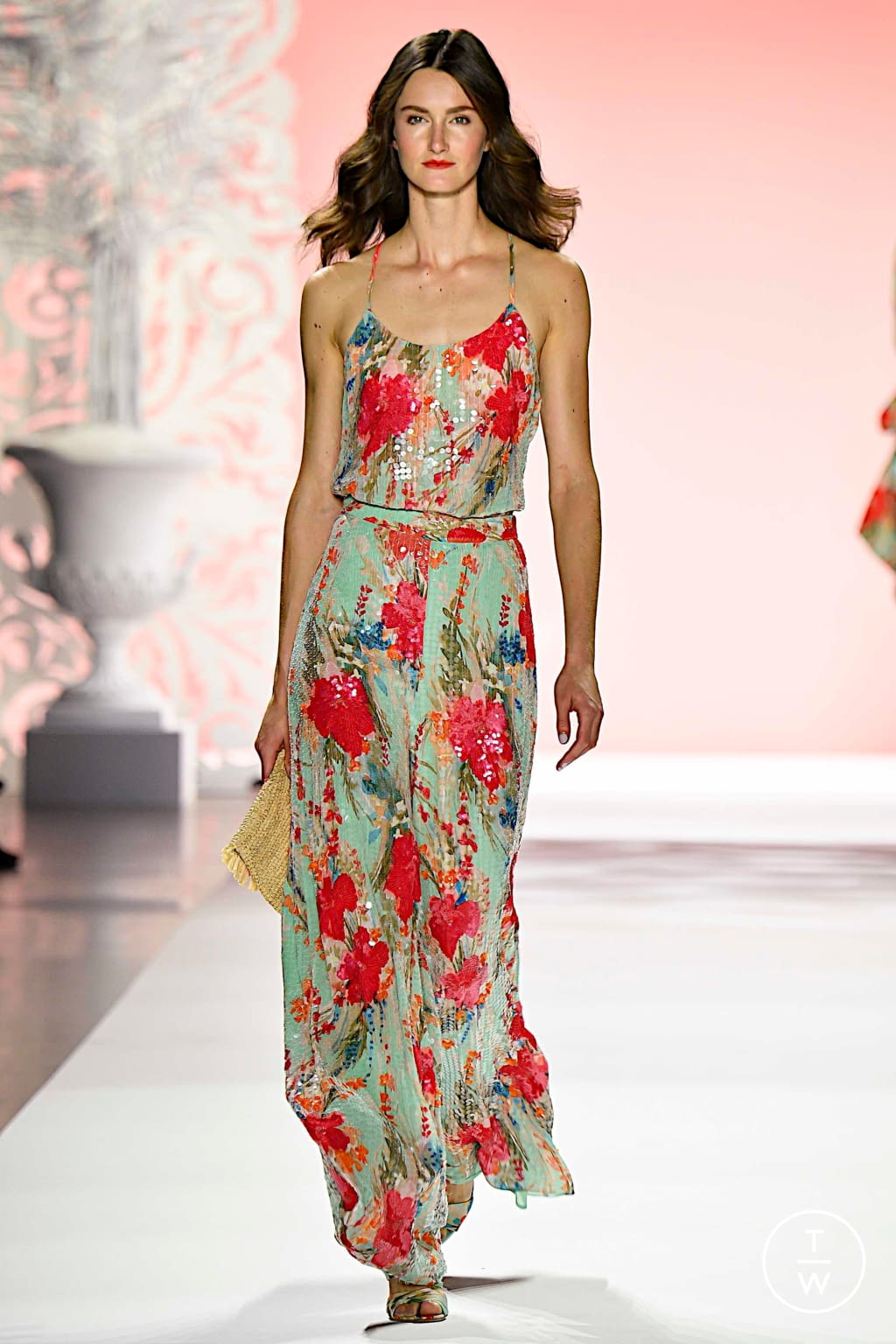 Fashion Week New York Spring/Summer 2020 look 3 from the Badgley Mischka collection womenswear