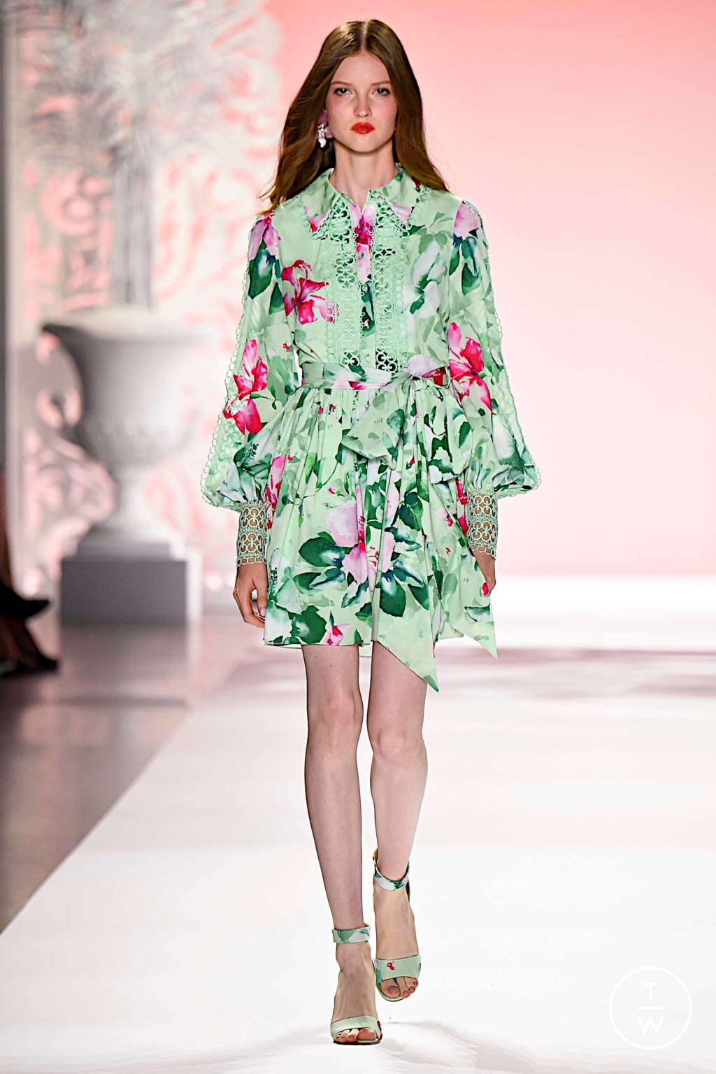 Fashion Week New York Spring/Summer 2020 look 13 from the Badgley Mischka collection womenswear