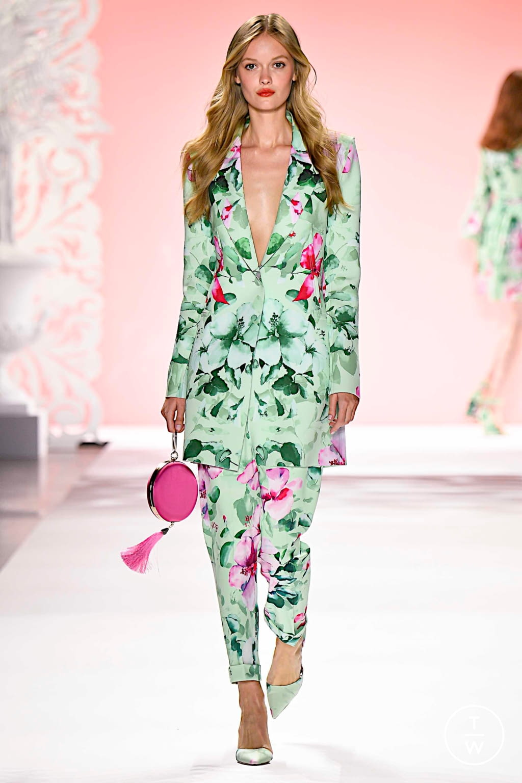 Fashion Week New York Spring/Summer 2020 look 15 from the Badgley Mischka collection womenswear