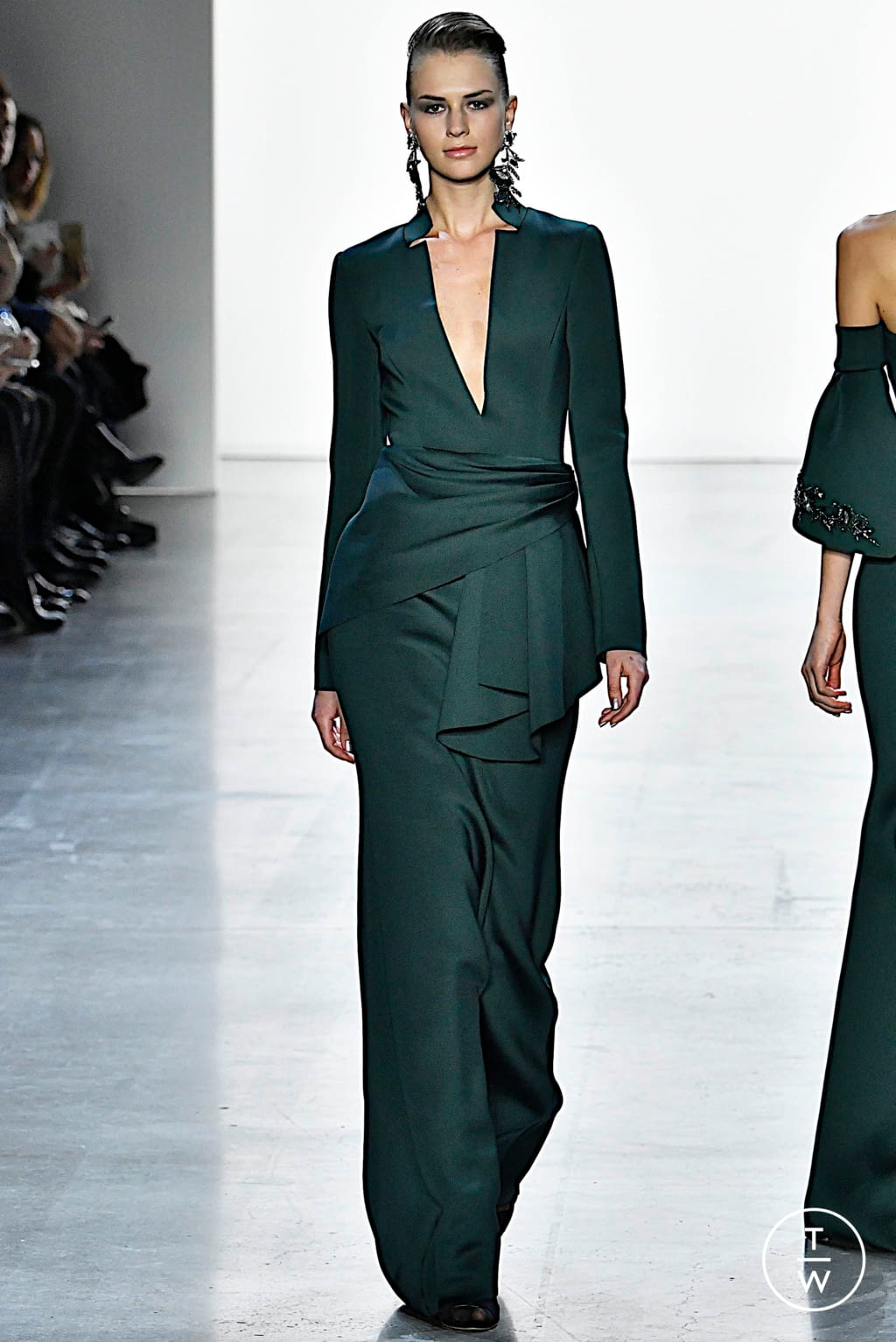Fashion Week New York Fall/Winter 2019 look 13 from the Badgley Mischka collection womenswear