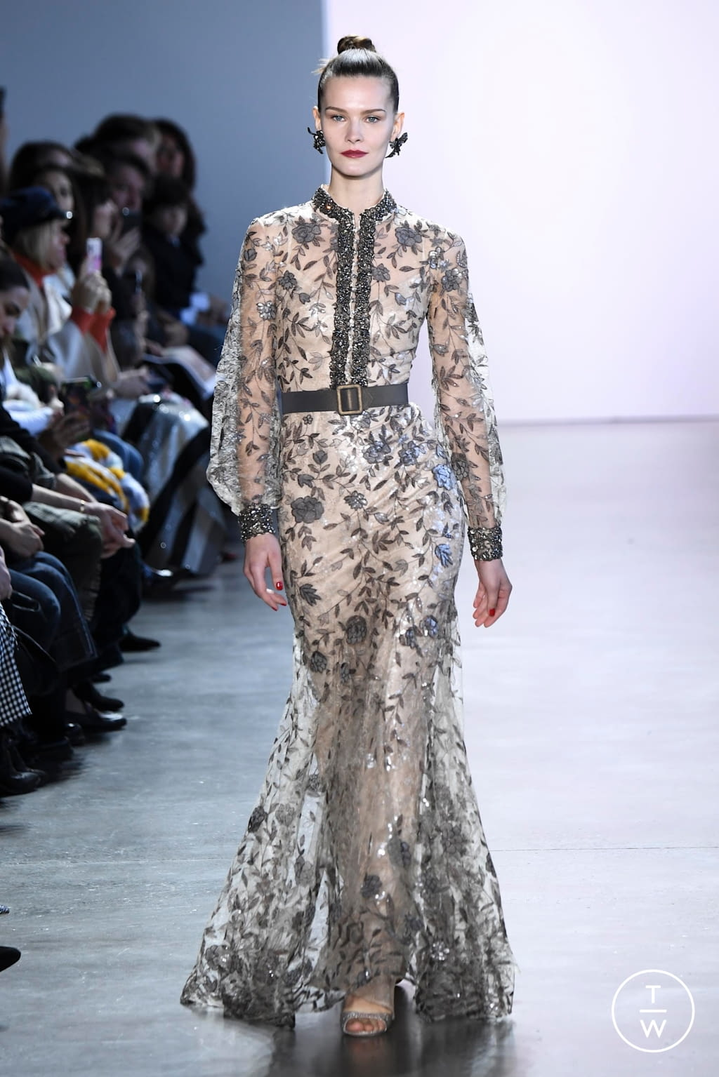 Fashion Week New York Fall/Winter 2020 look 14 from the Badgley Mischka collection womenswear
