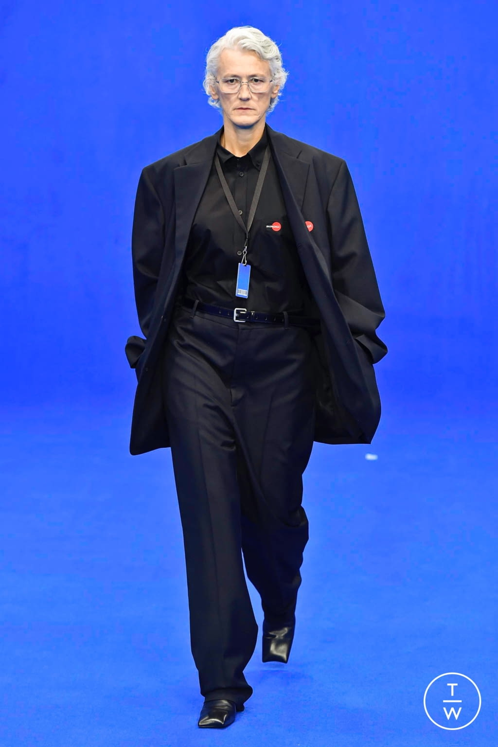 Fashion Week Paris Spring/Summer 2020 look 1 from the Balenciaga collection menswear