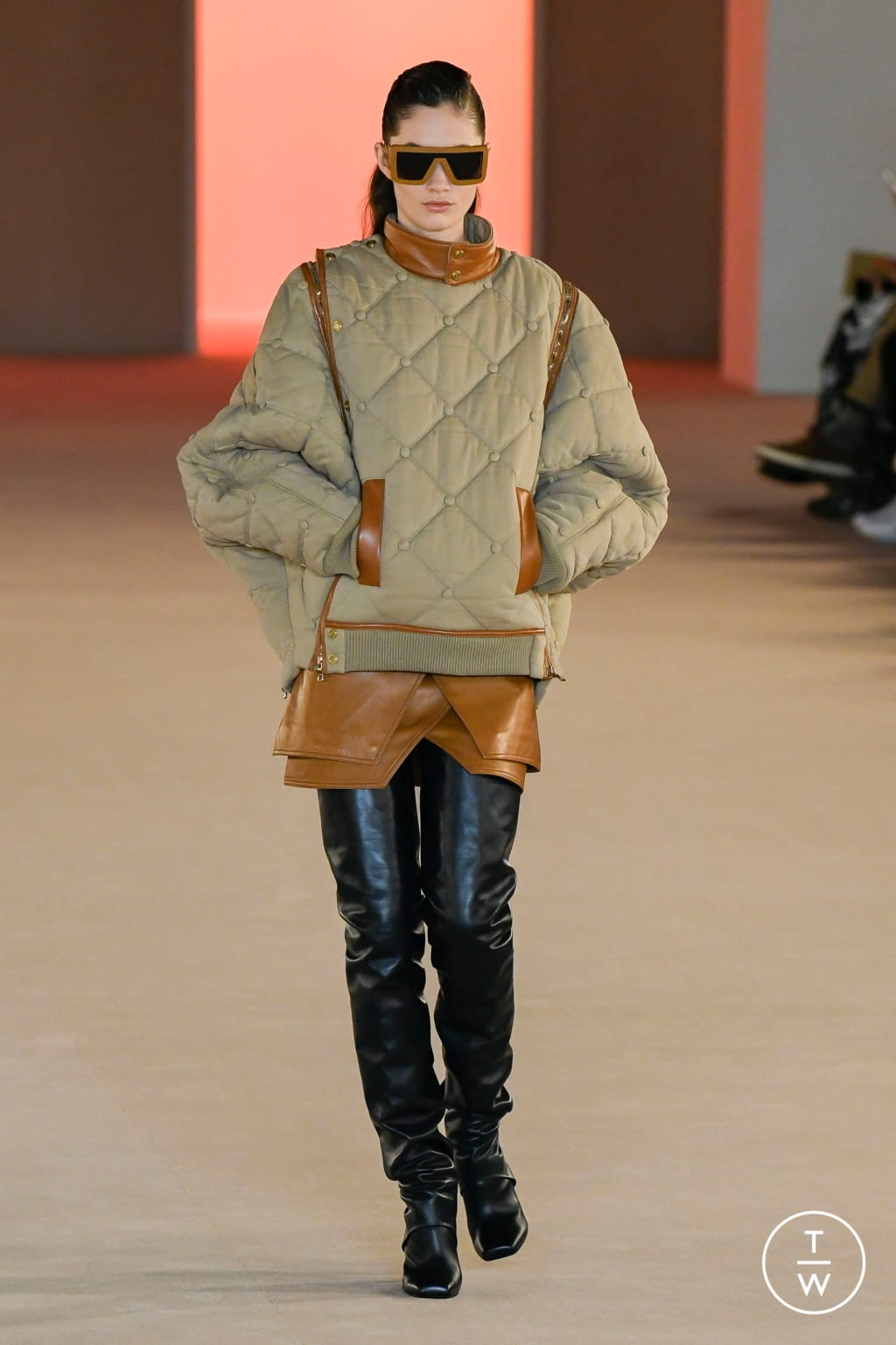 Fashion Week Paris Fall/Winter 2020 look 12 from the Balmain collection womenswear