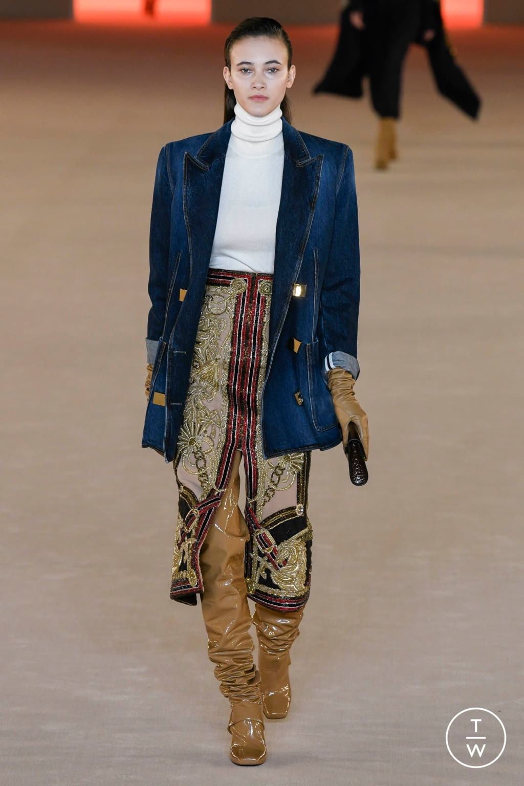 Fashion Week Paris Fall/Winter 2020 look 38 from the Balmain collection womenswear