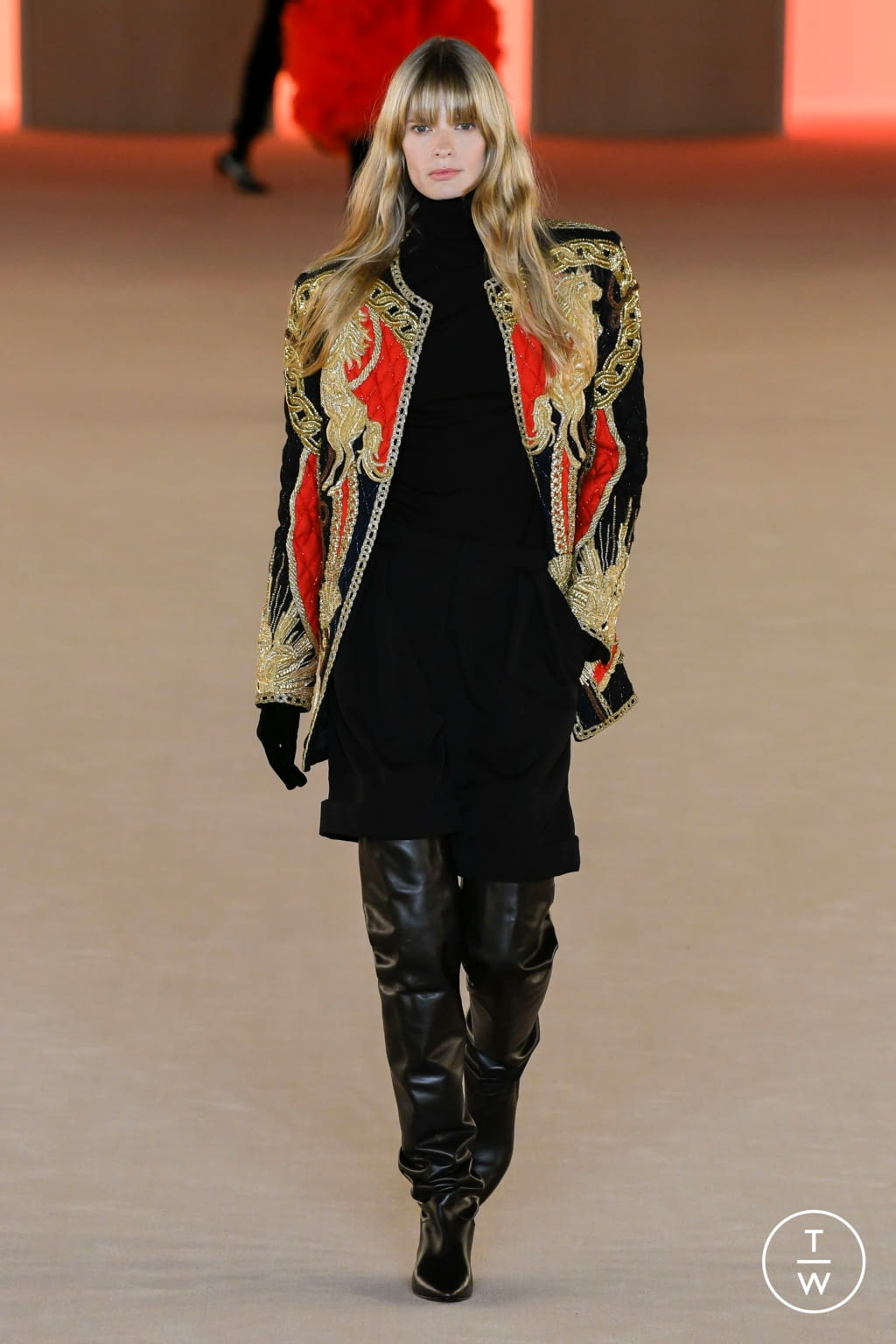 Fashion Week Paris Fall/Winter 2020 look 74 from the Balmain collection womenswear