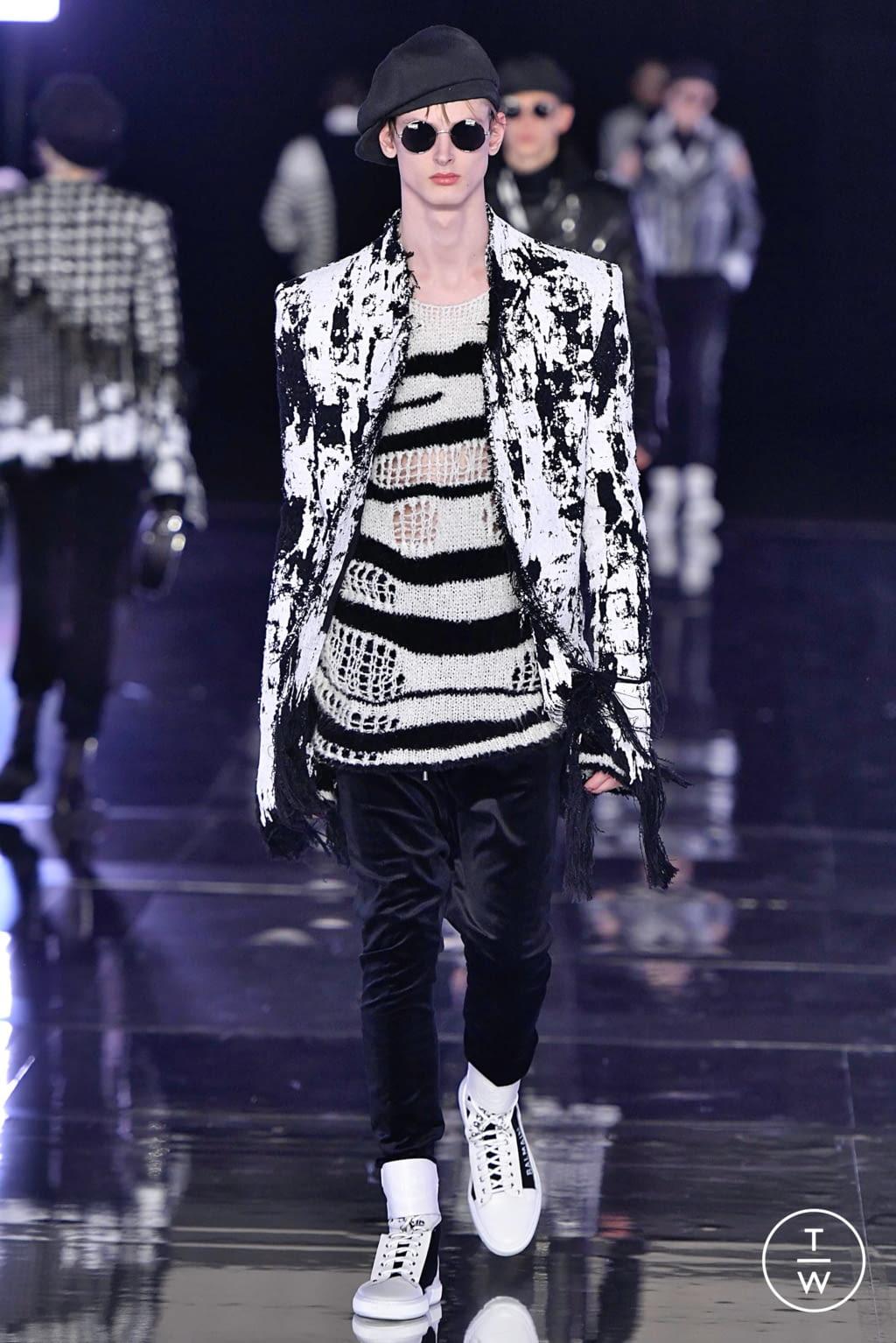 Fashion Week Paris Fall/Winter 2019 look 40 from the Balmain collection menswear