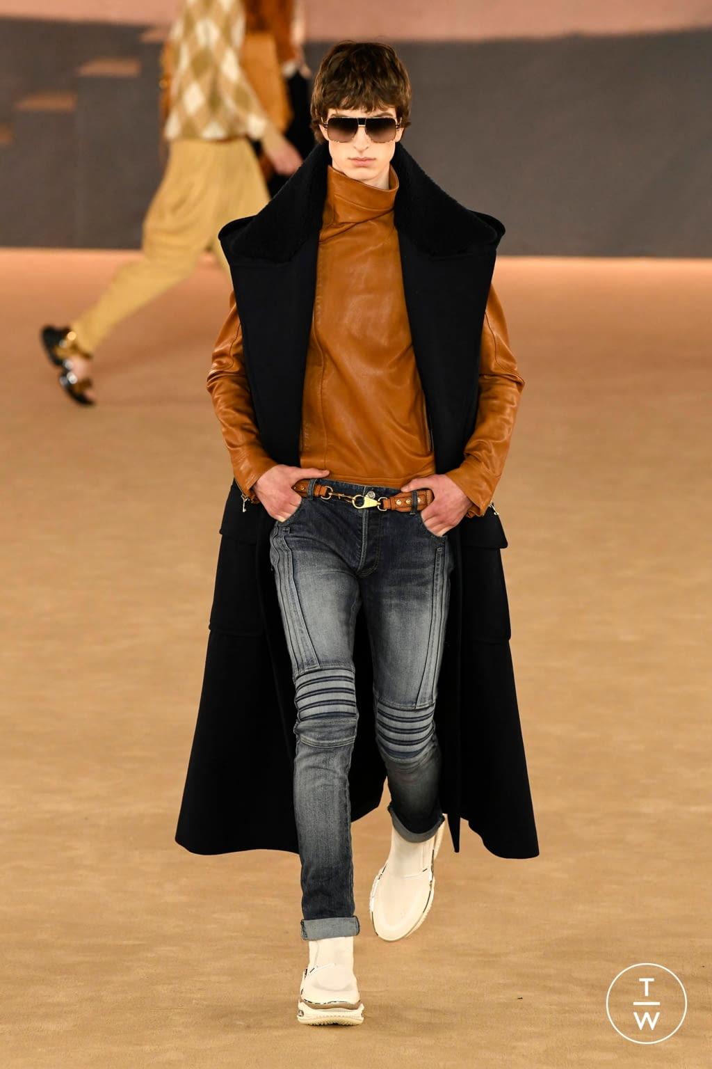 Fashion Week Paris Fall/Winter 2020 look 16 from the Balmain collection menswear