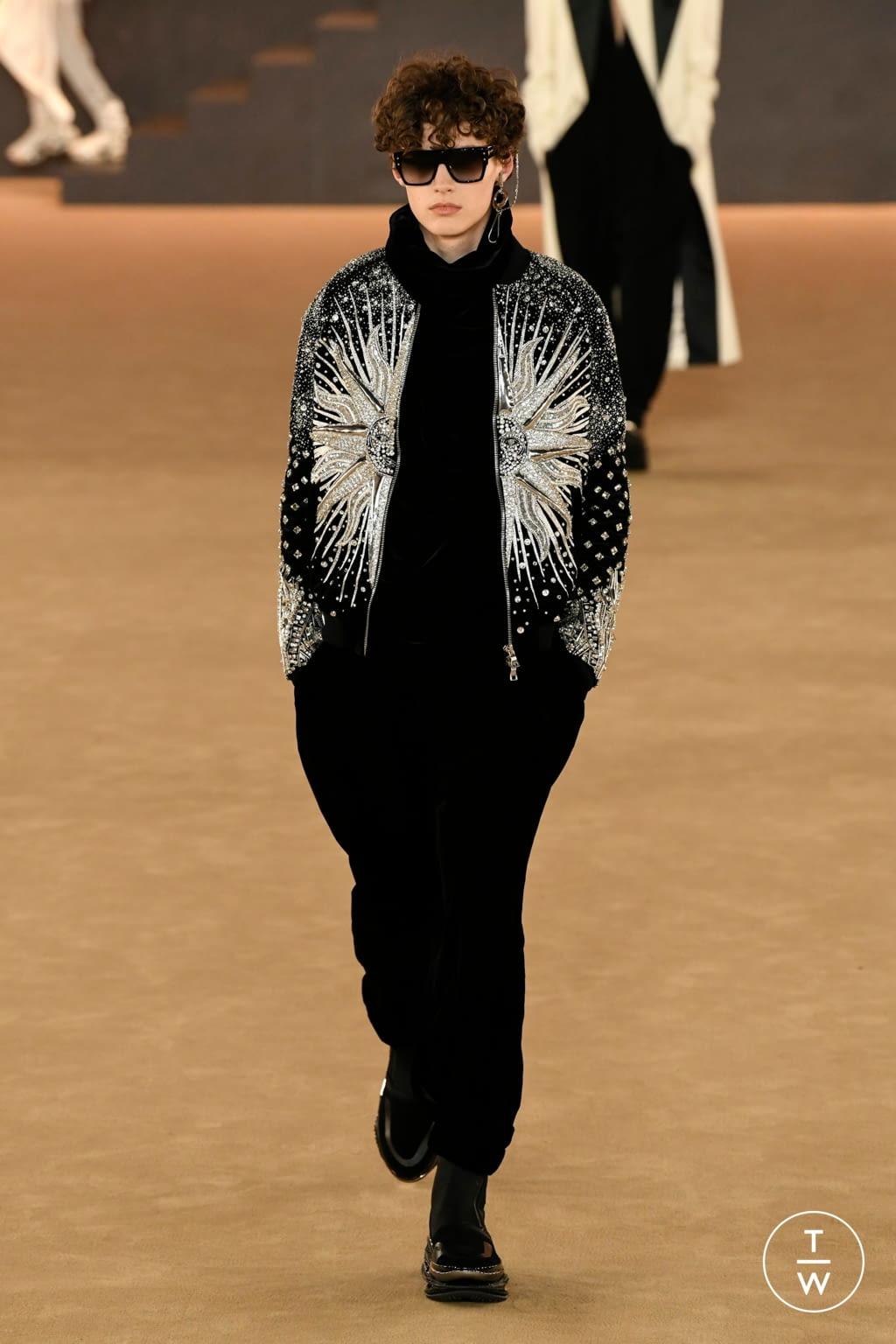 Fashion Week Paris Fall/Winter 2020 look 50 from the Balmain collection menswear
