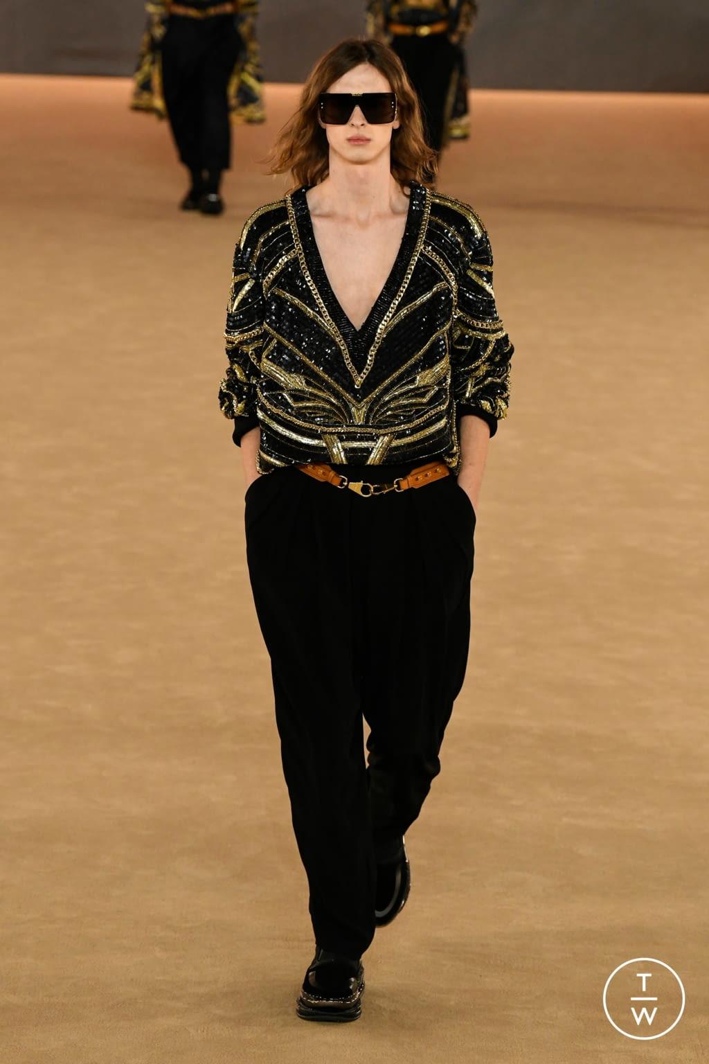 Fashion Week Paris Fall/Winter 2020 look 57 from the Balmain collection menswear
