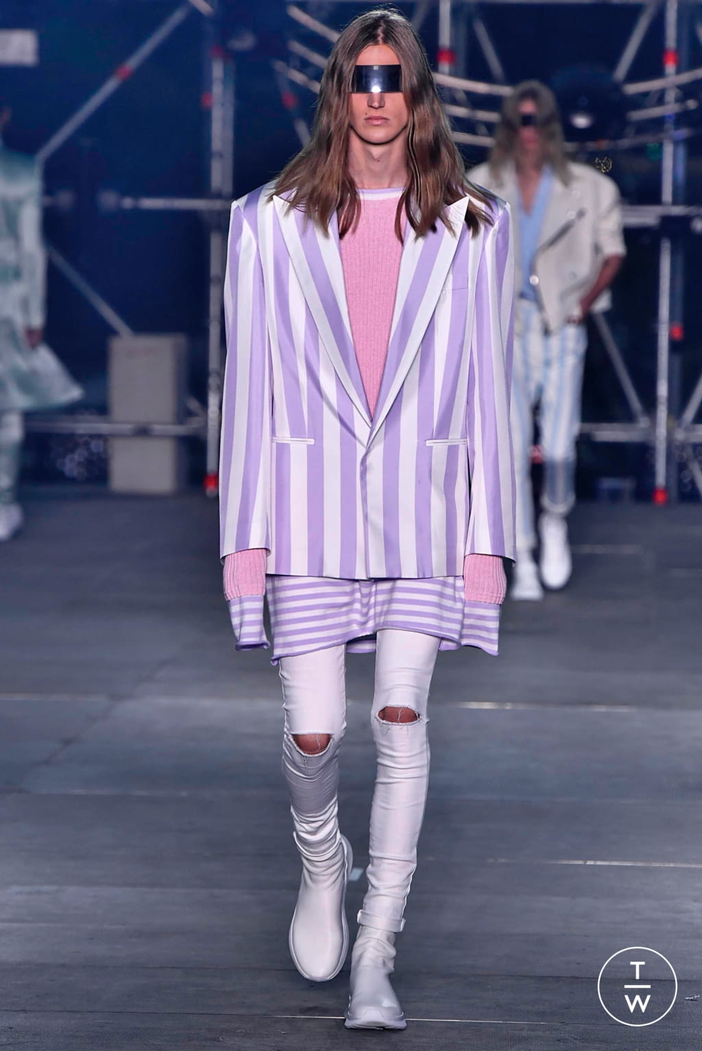 Fashion Week Paris Spring/Summer 2020 look 42 from the Balmain collection menswear