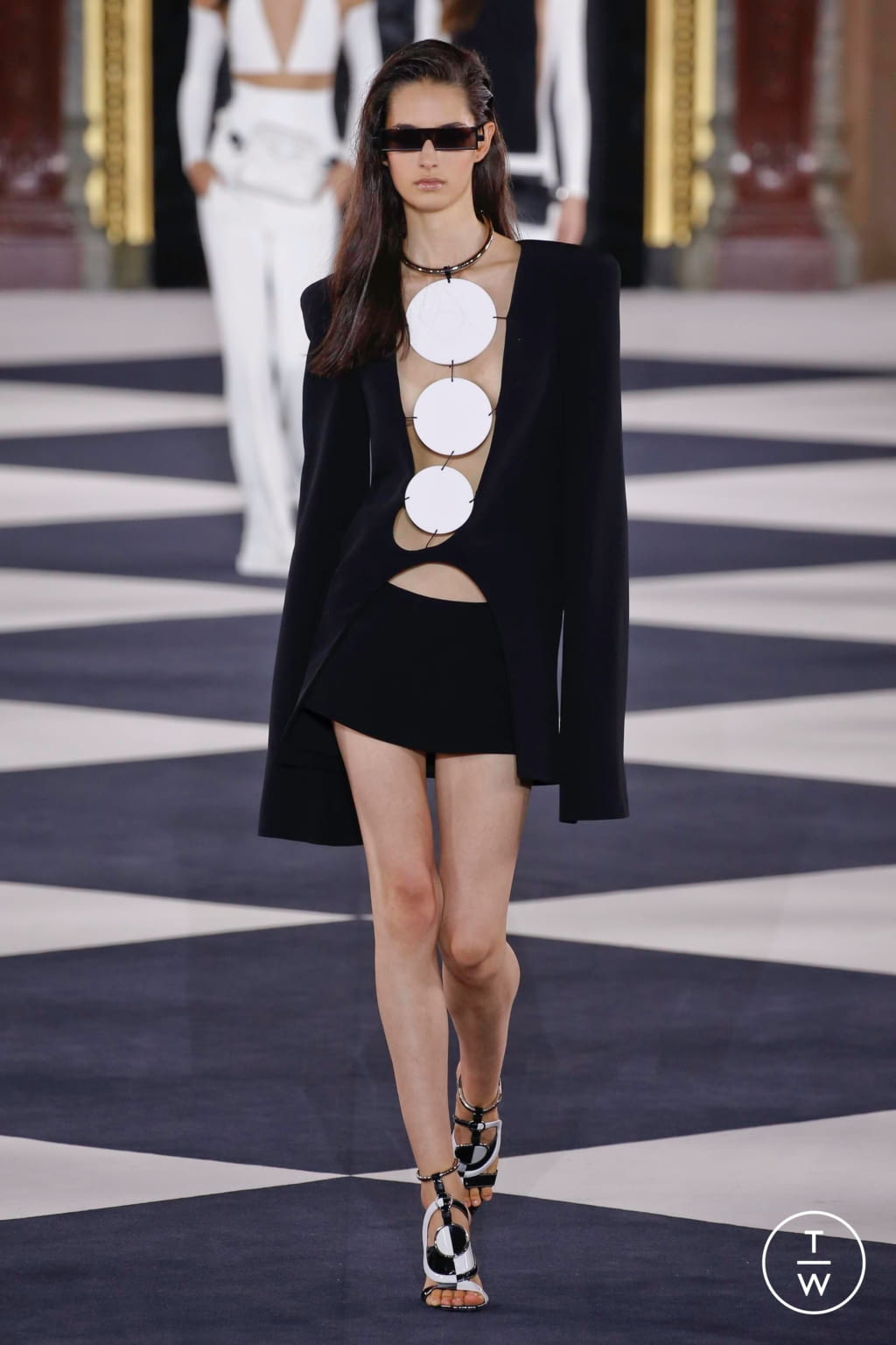 Fashion Week Paris Spring/Summer 2020 look 5 from the Balmain collection 女装