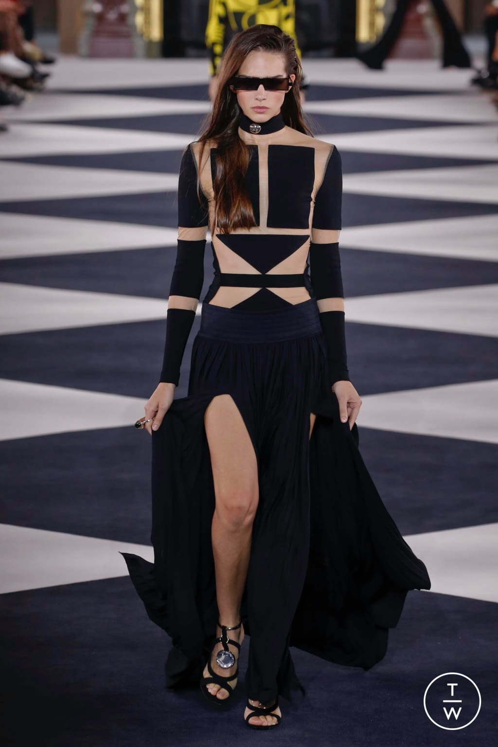 Fashion Week Paris Spring/Summer 2020 look 10 from the Balmain collection 女装