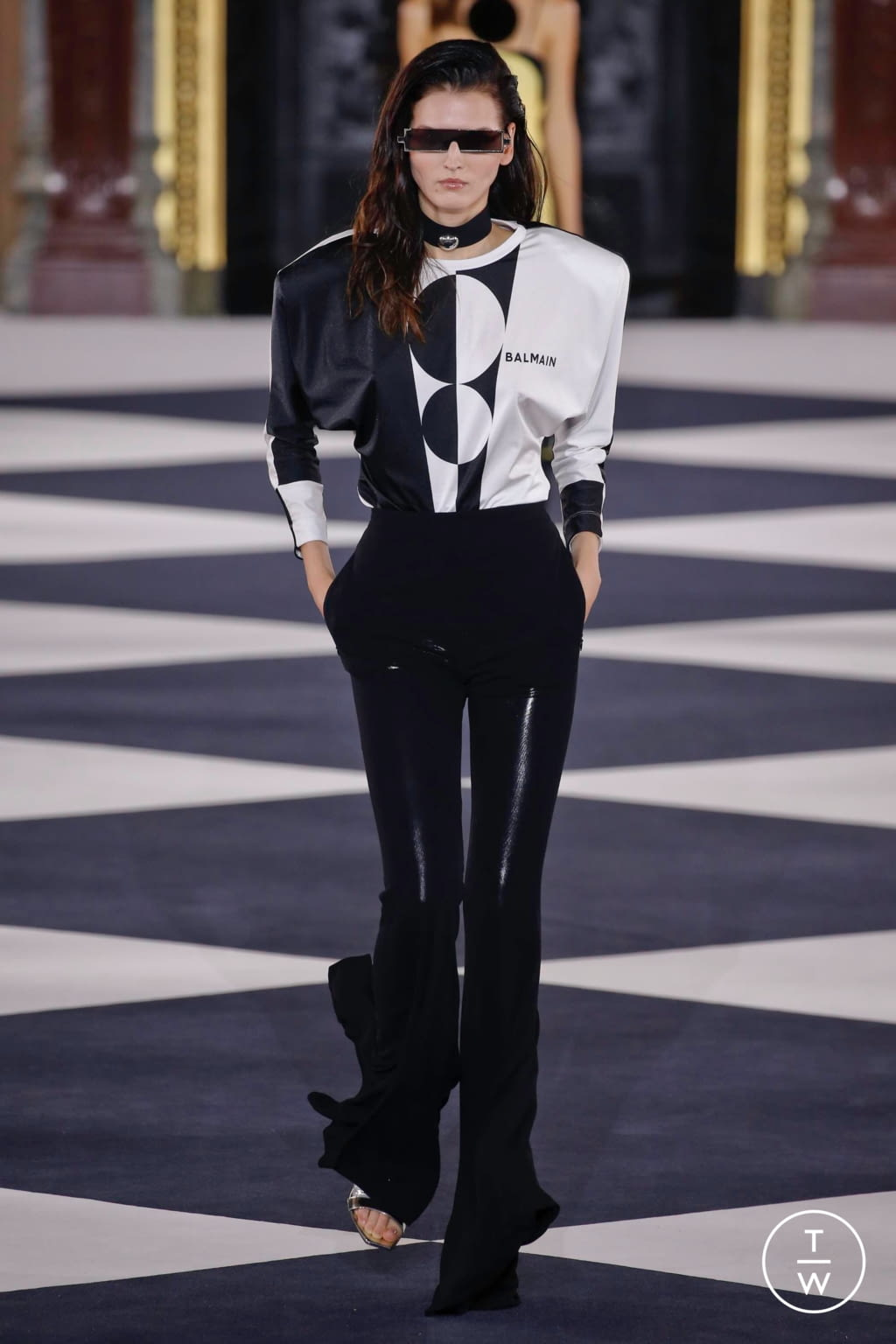Fashion Week Paris Spring/Summer 2020 look 12 from the Balmain collection 女装