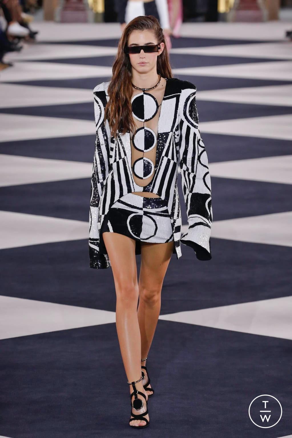 Fashion Week Paris Spring/Summer 2020 look 21 from the Balmain collection womenswear