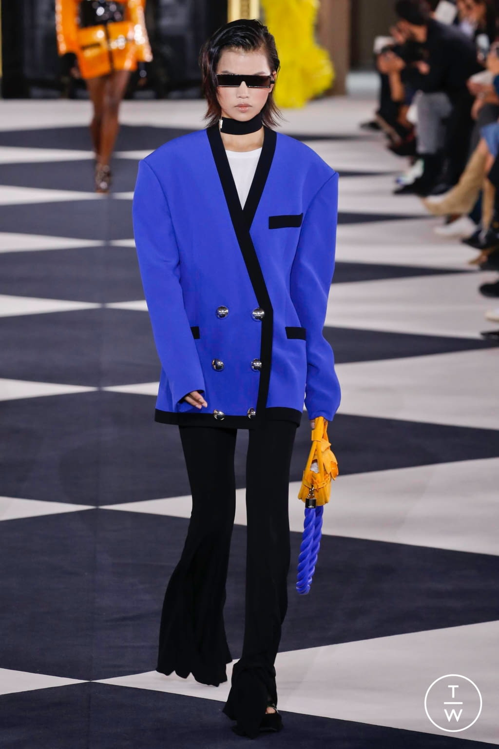 Fashion Week Paris Spring/Summer 2020 look 46 from the Balmain collection womenswear
