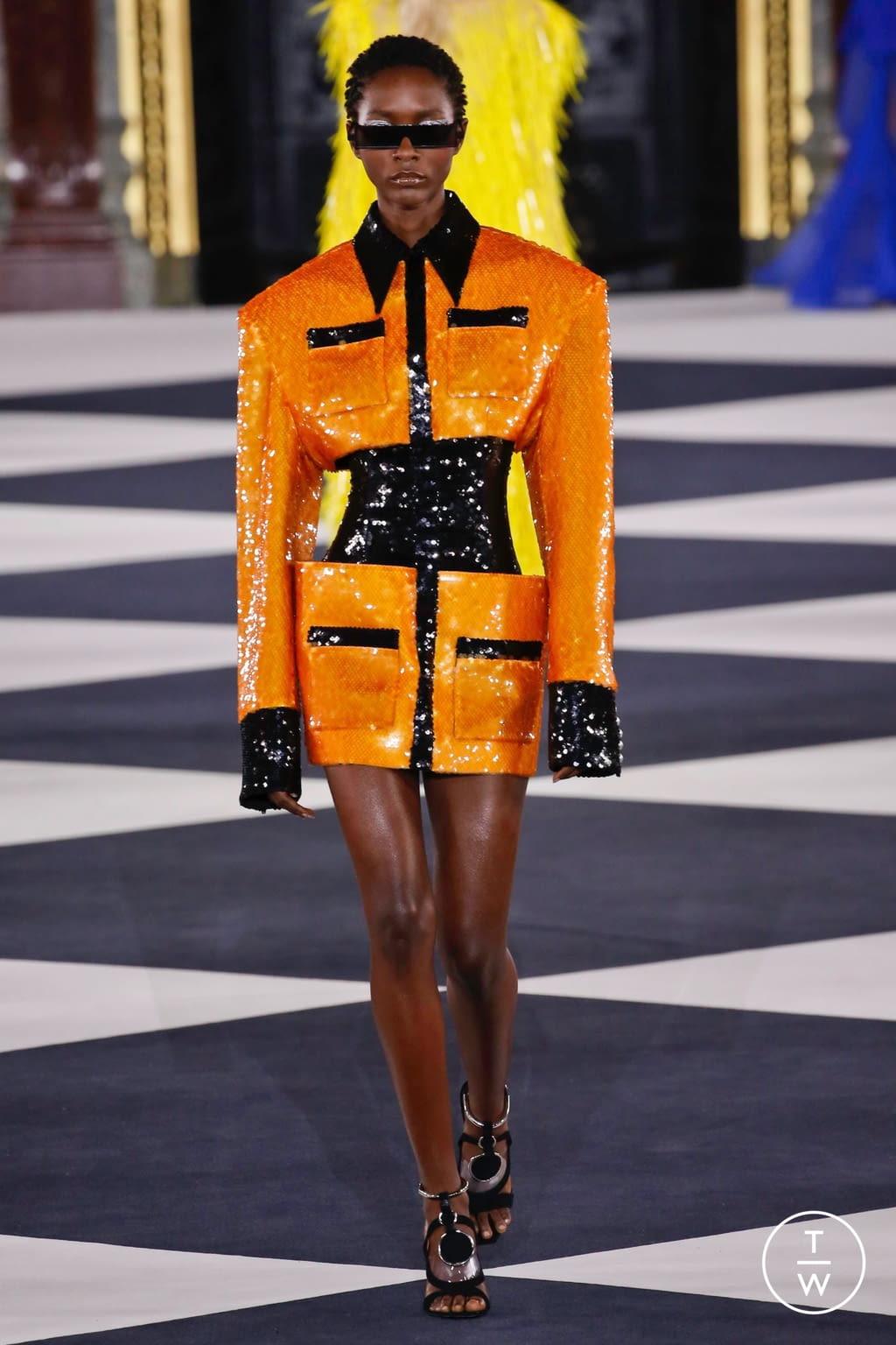 Fashion Week Paris Spring/Summer 2020 look 47 from the Balmain collection womenswear