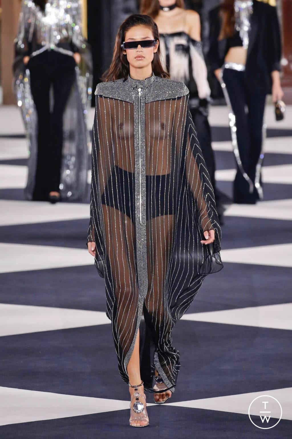 Fashion Week Paris Spring/Summer 2020 look 94 from the Balmain collection womenswear