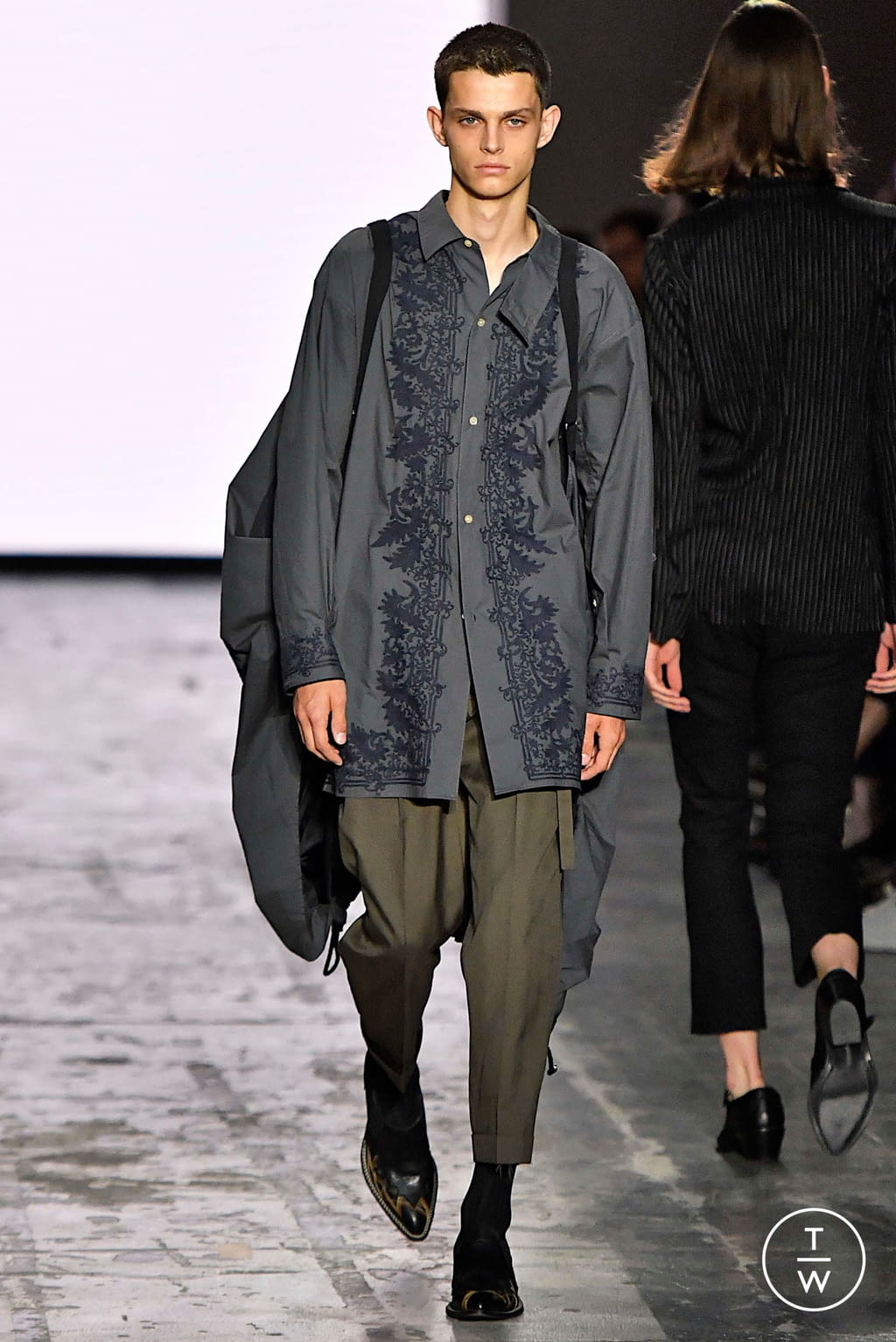 Fashion Week Milan Spring/Summer 2020 look 3 from the Bed JW Ford collection menswear