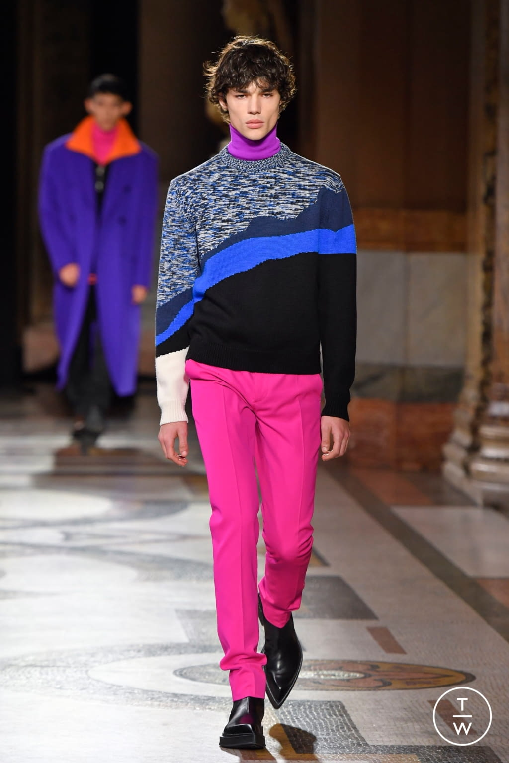 Fashion Week Paris Fall/Winter 2020 look 7 from the Berluti collection menswear