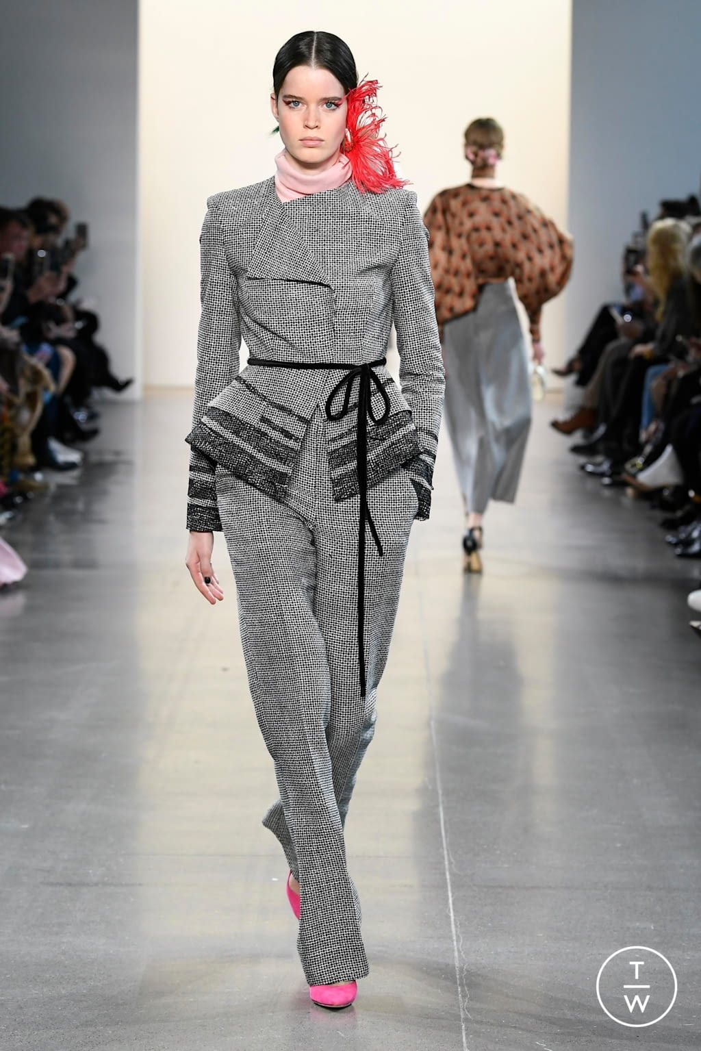 Fashion Week New York Fall/Winter 2020 look 6 from the Bibhu Mohapatra collection womenswear
