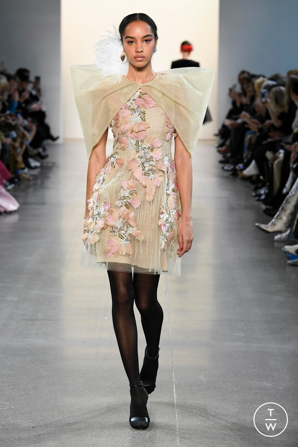 Fashion Week New York Fall/Winter 2020 look 16 from the Bibhu Mohapatra collection womenswear
