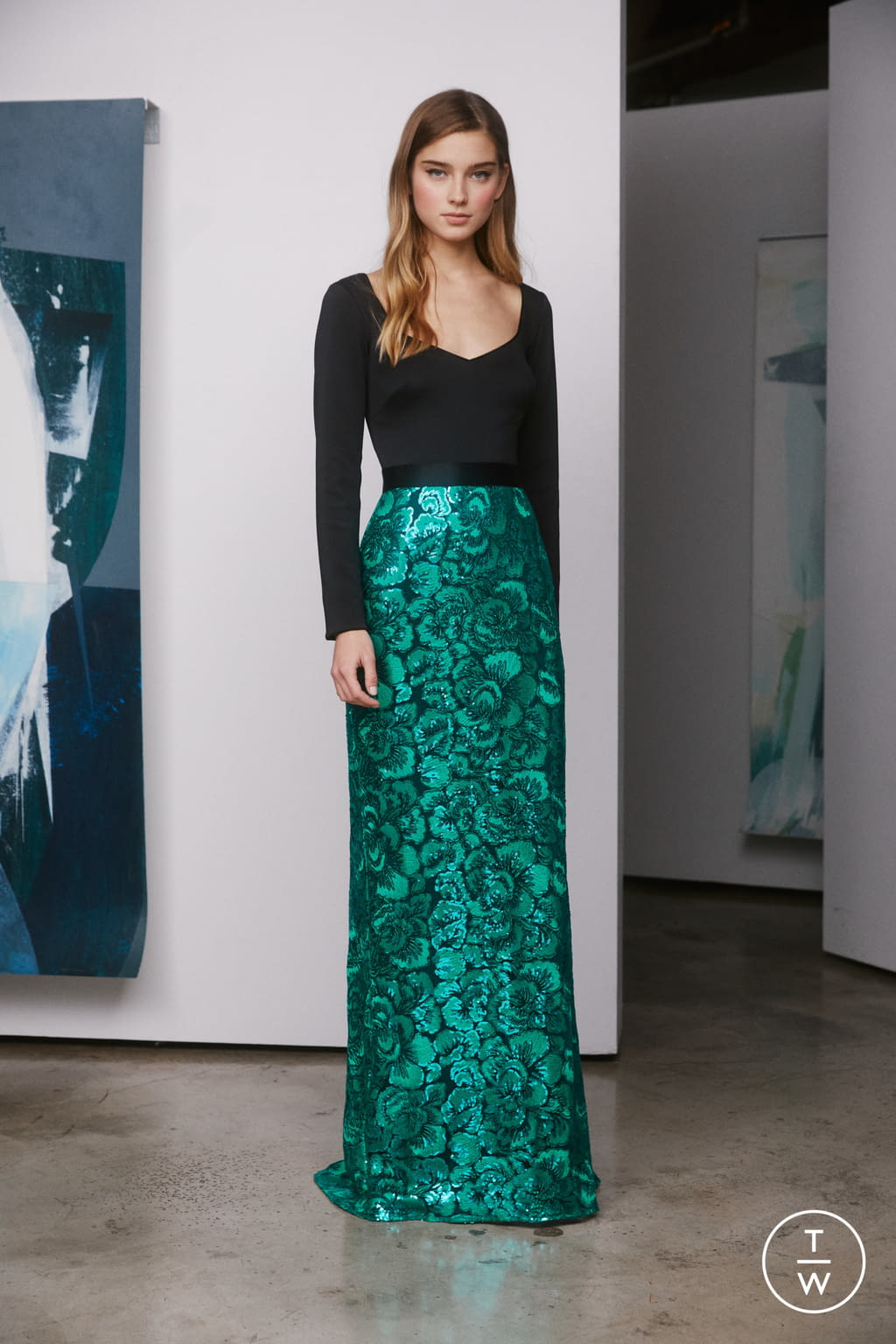 Fashion Week New York Pre-Fall 2019 look 21 de la collection Tadashi Shoji womenswear
