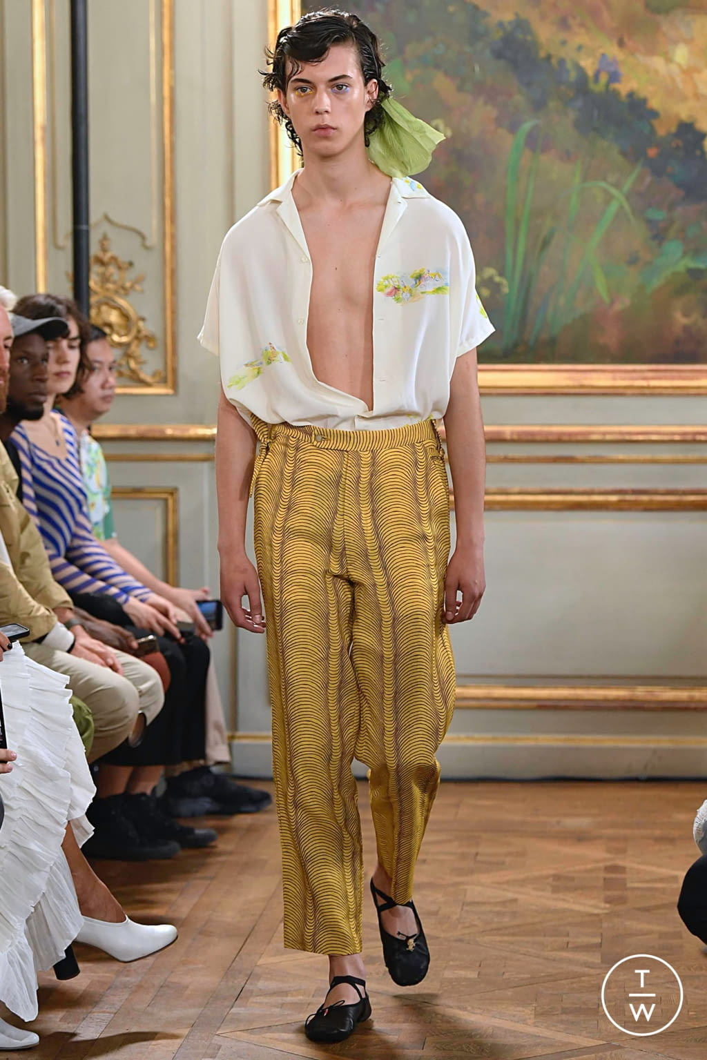 Fashion Week Paris Spring/Summer 2020 look 7 from the Bode collection menswear