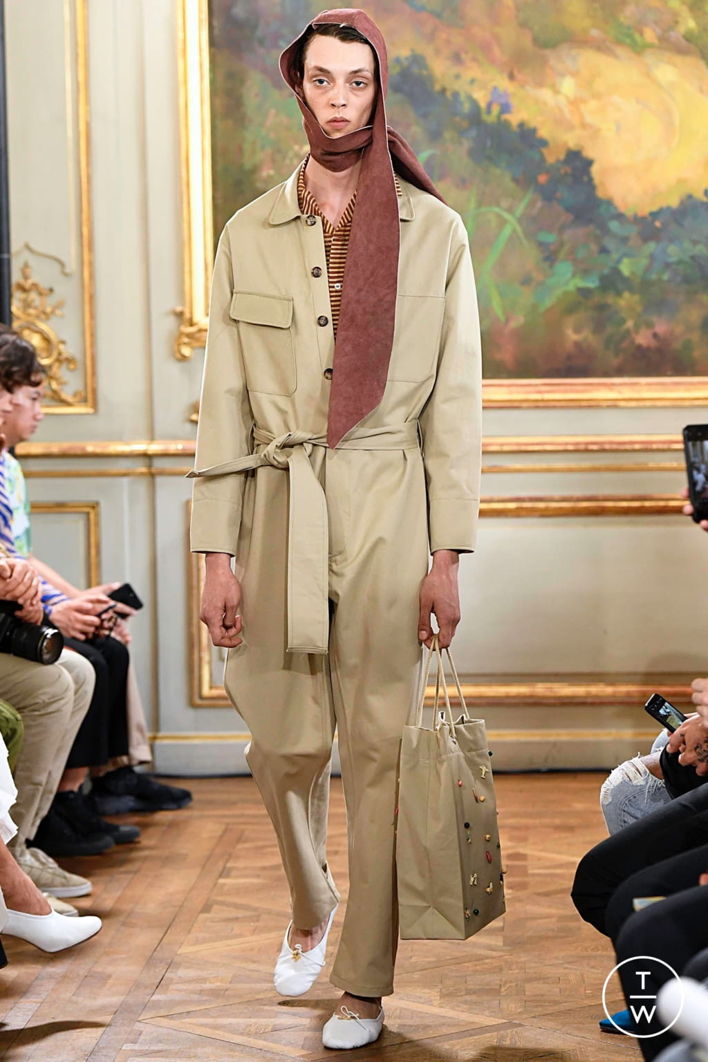 Fashion Week Paris Spring/Summer 2020 look 13 from the Bode collection menswear