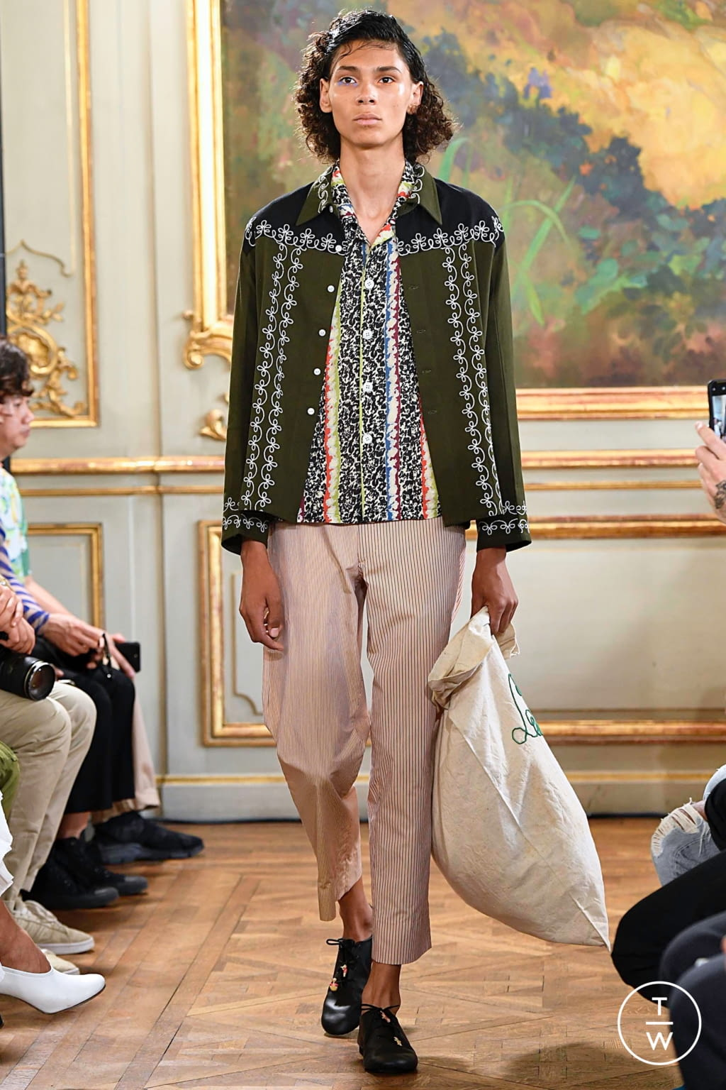 Fashion Week Paris Spring/Summer 2020 look 14 from the Bode collection menswear