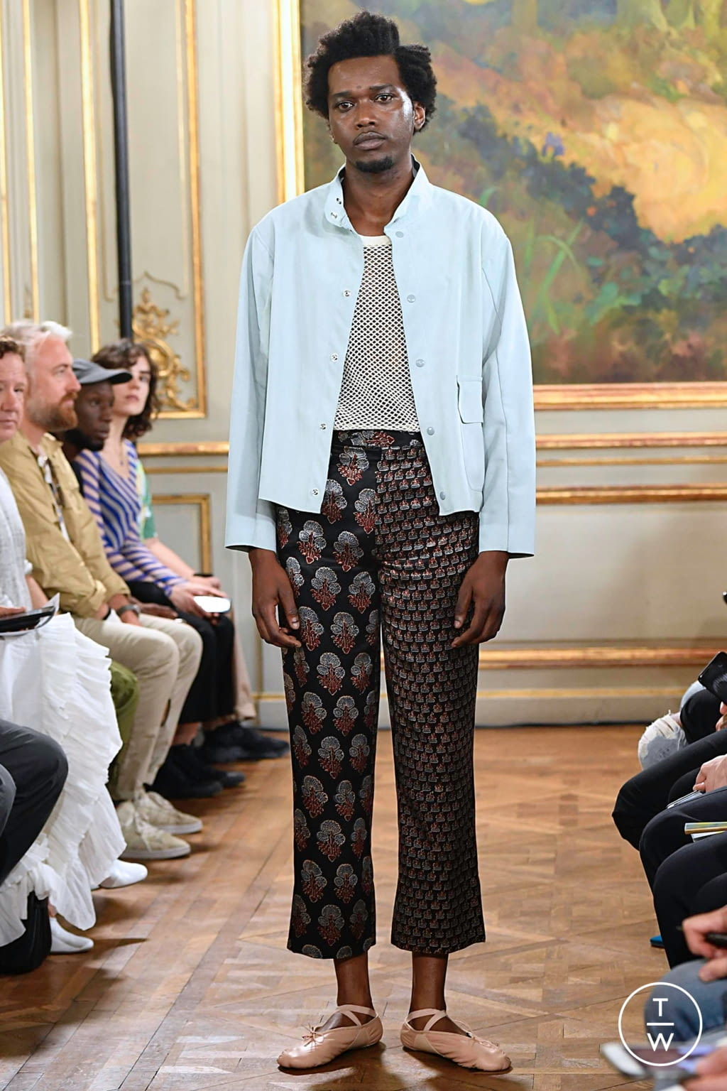 Fashion Week Paris Spring/Summer 2020 look 16 from the Bode collection menswear