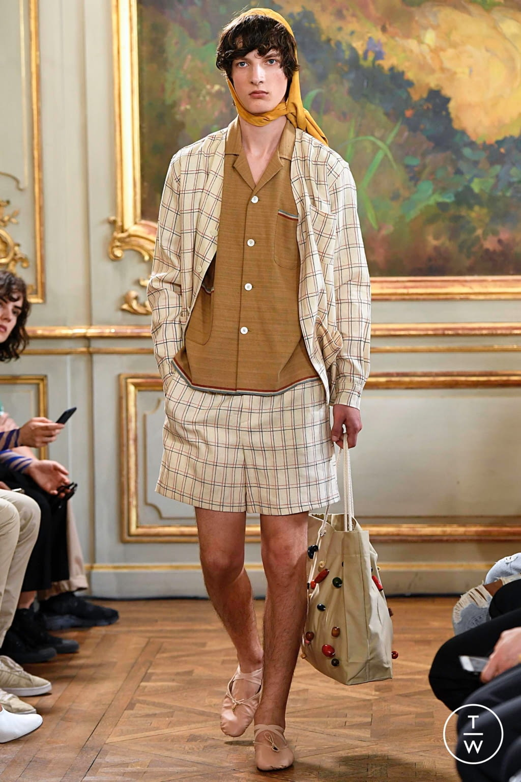 Fashion Week Paris Spring/Summer 2020 look 21 from the Bode collection menswear