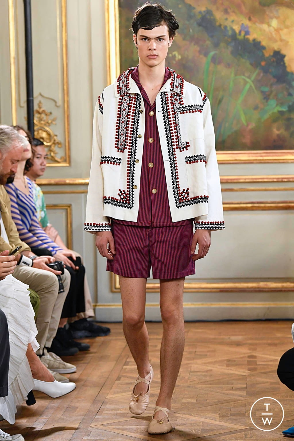 Fashion Week Paris Spring/Summer 2020 look 23 from the Bode collection menswear