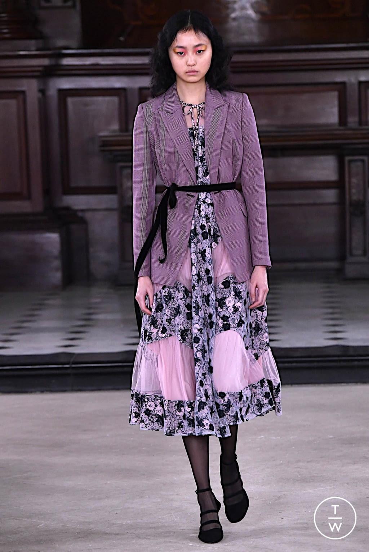Fashion Week London Fall/Winter 2020 look 17 from the Bora Aksu collection womenswear