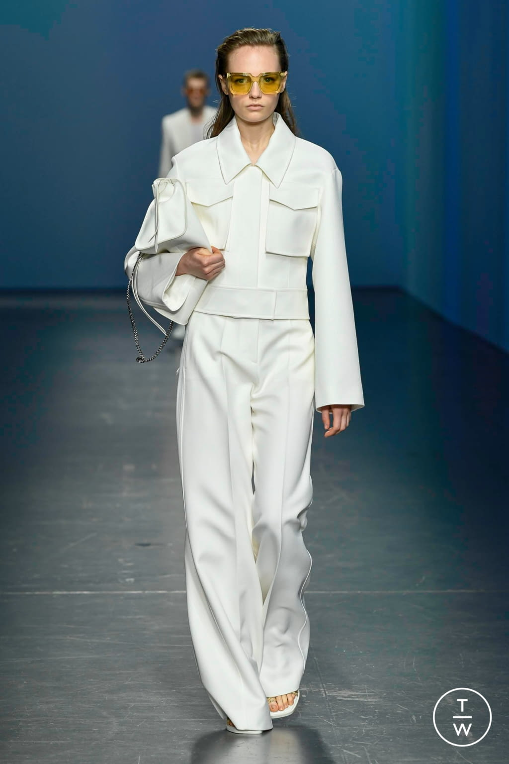 Fashion Week Milan Spring/Summer 2020 look 1 from the Boss collection womenswear
