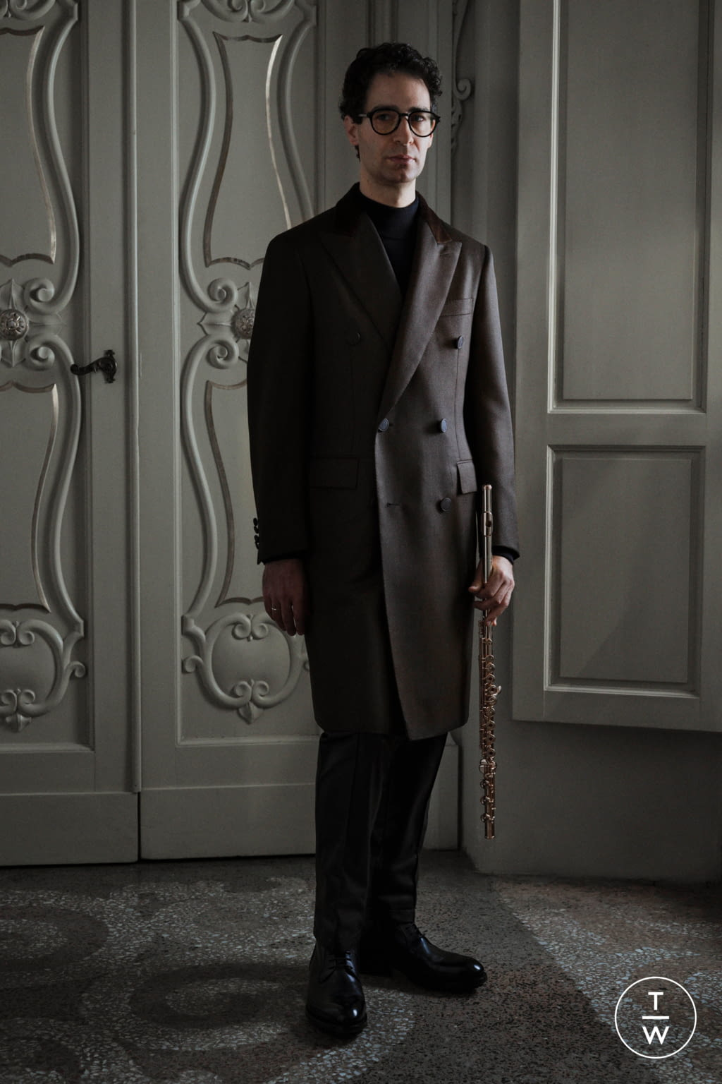 Fashion Week Florence Fall/Winter 2020 look 3 from the Brioni collection menswear