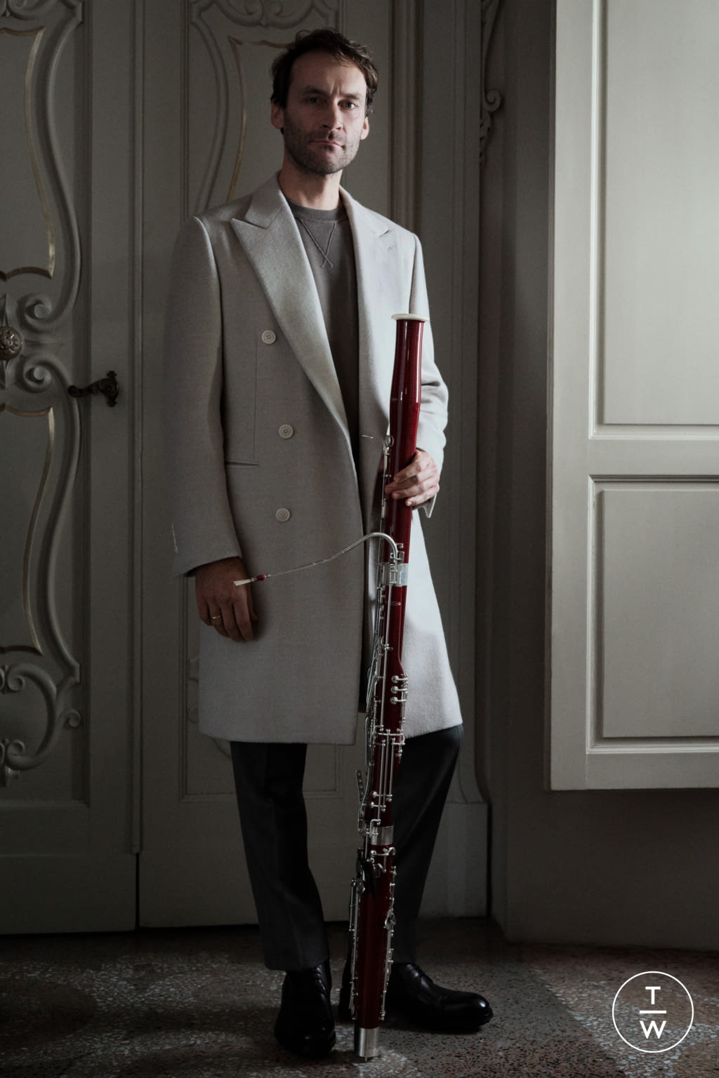 Fashion Week Florence Fall/Winter 2020 look 6 from the Brioni collection menswear