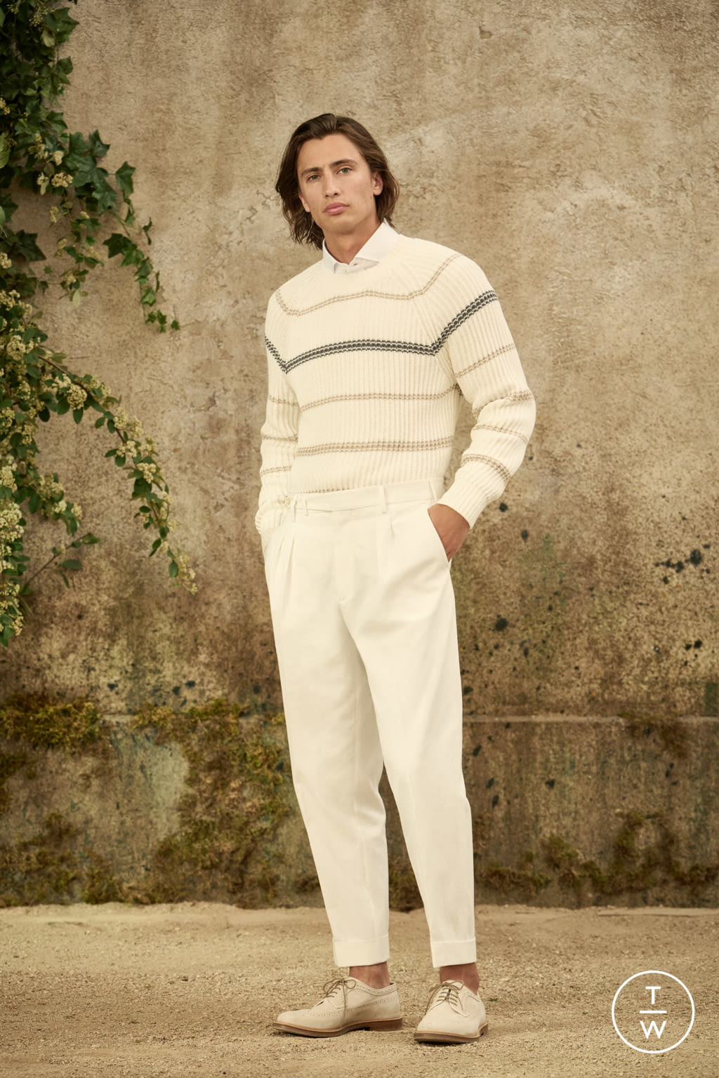 Fashion Week Milan Spring/Summer 2022 look 4 from the Brunello Cucinelli collection menswear