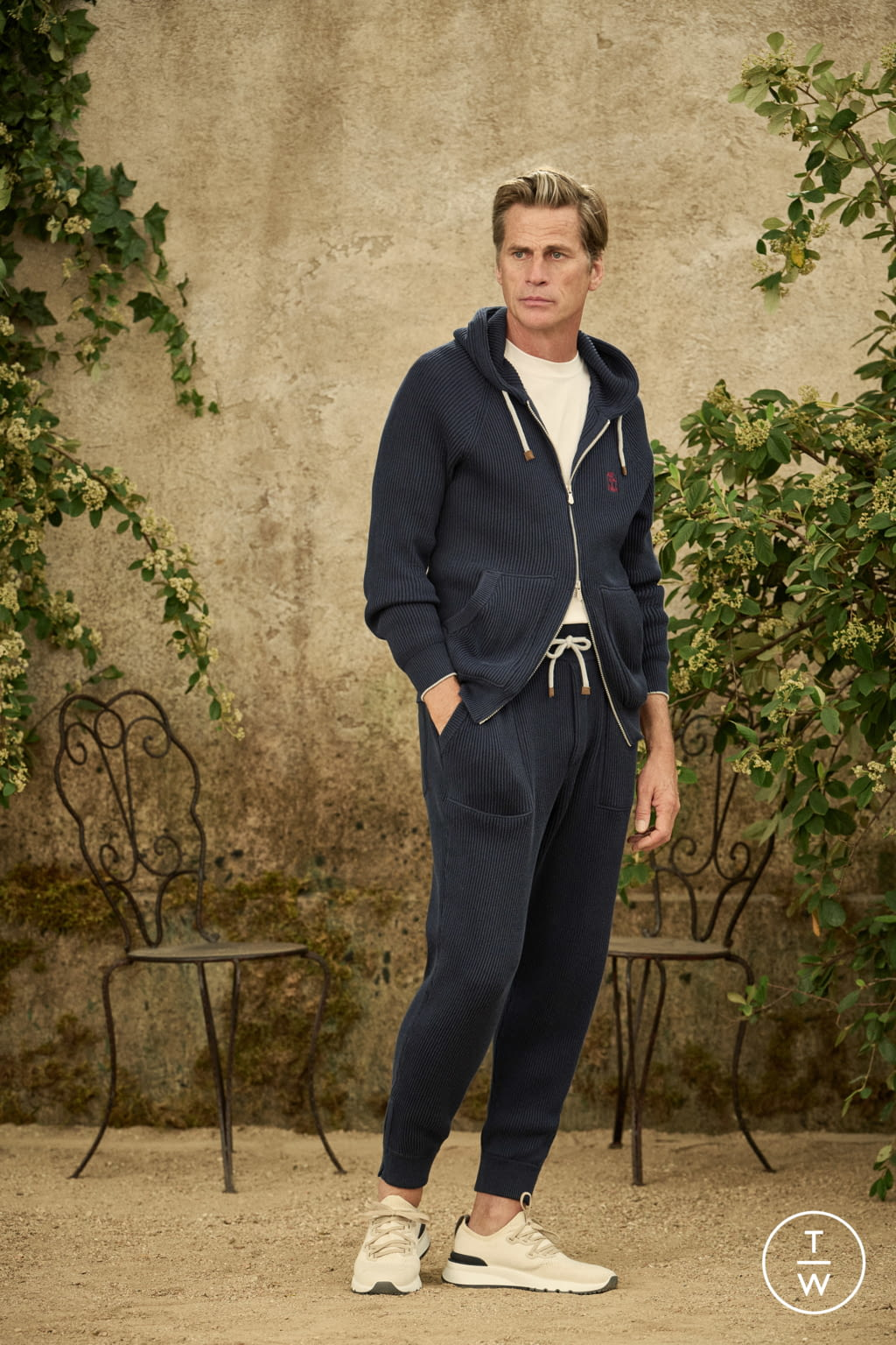 Fashion Week Milan Spring/Summer 2022 look 5 from the Brunello Cucinelli collection menswear